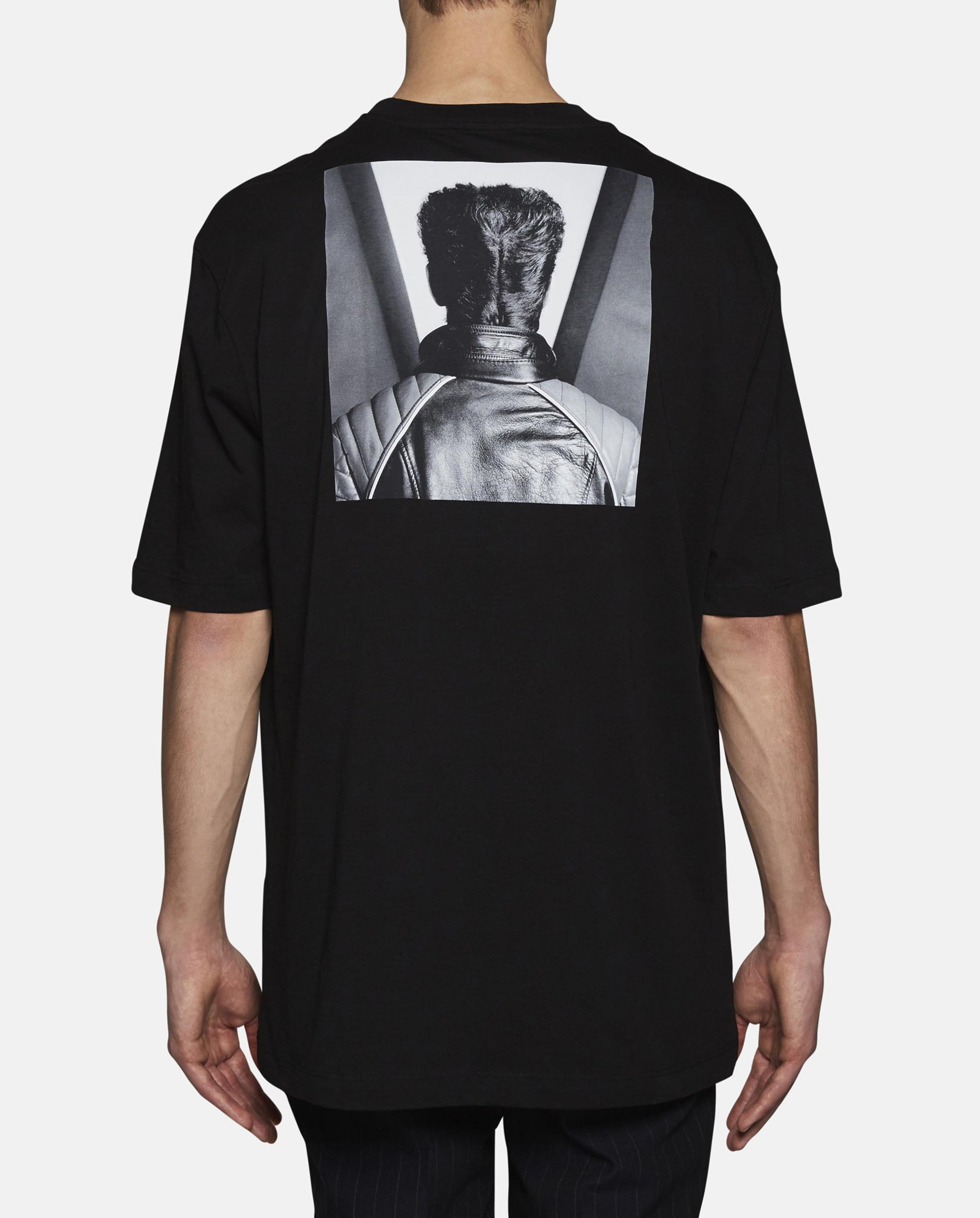 Lyst raf simons black mapplethorpe self portrait print t for Raf simons robert mapplethorpe shirt