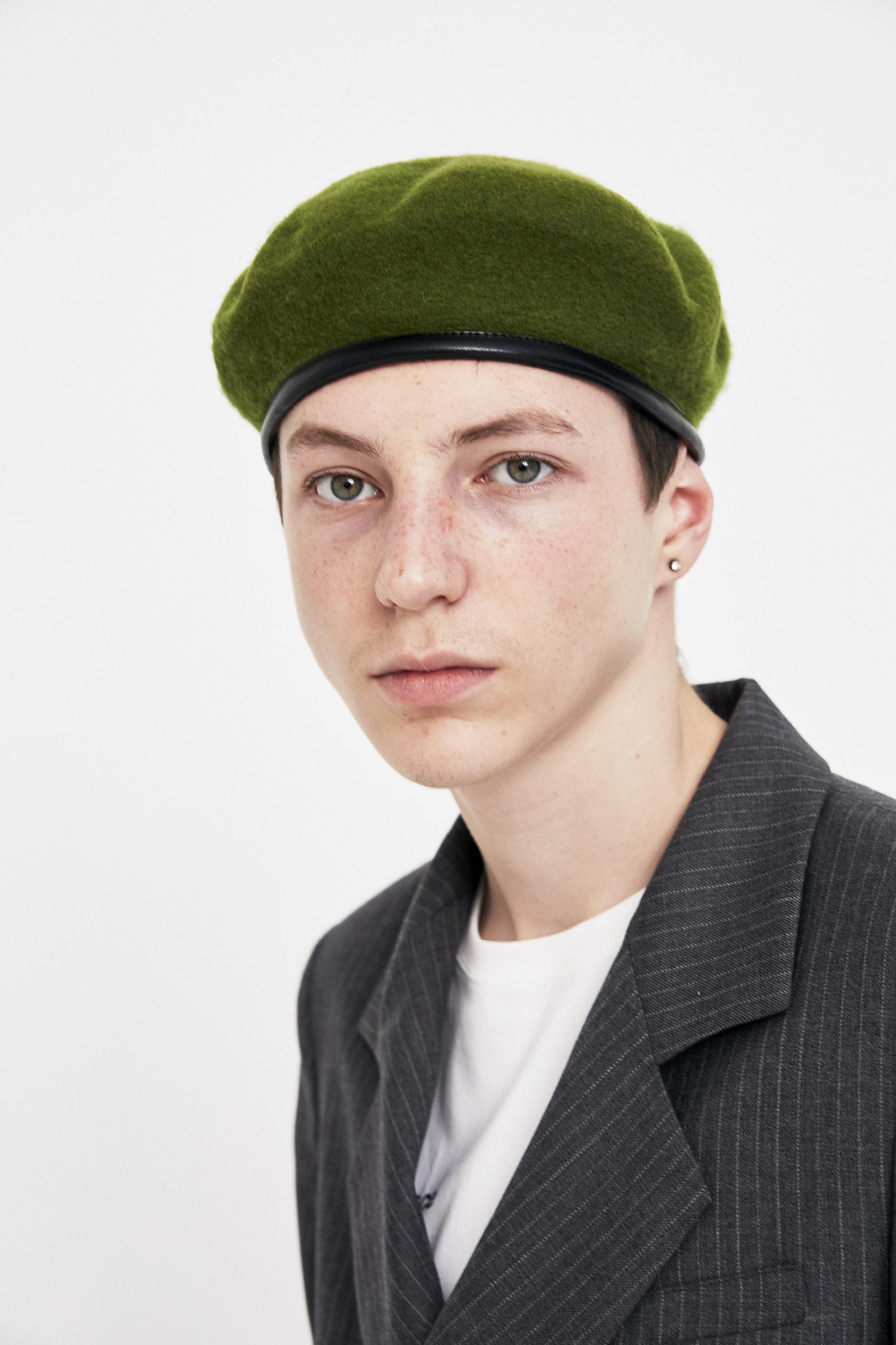 0e3434dfa74 Lyst gosha rubchinskiy green military beret in green for men jpg 2667x4000 Military  beret