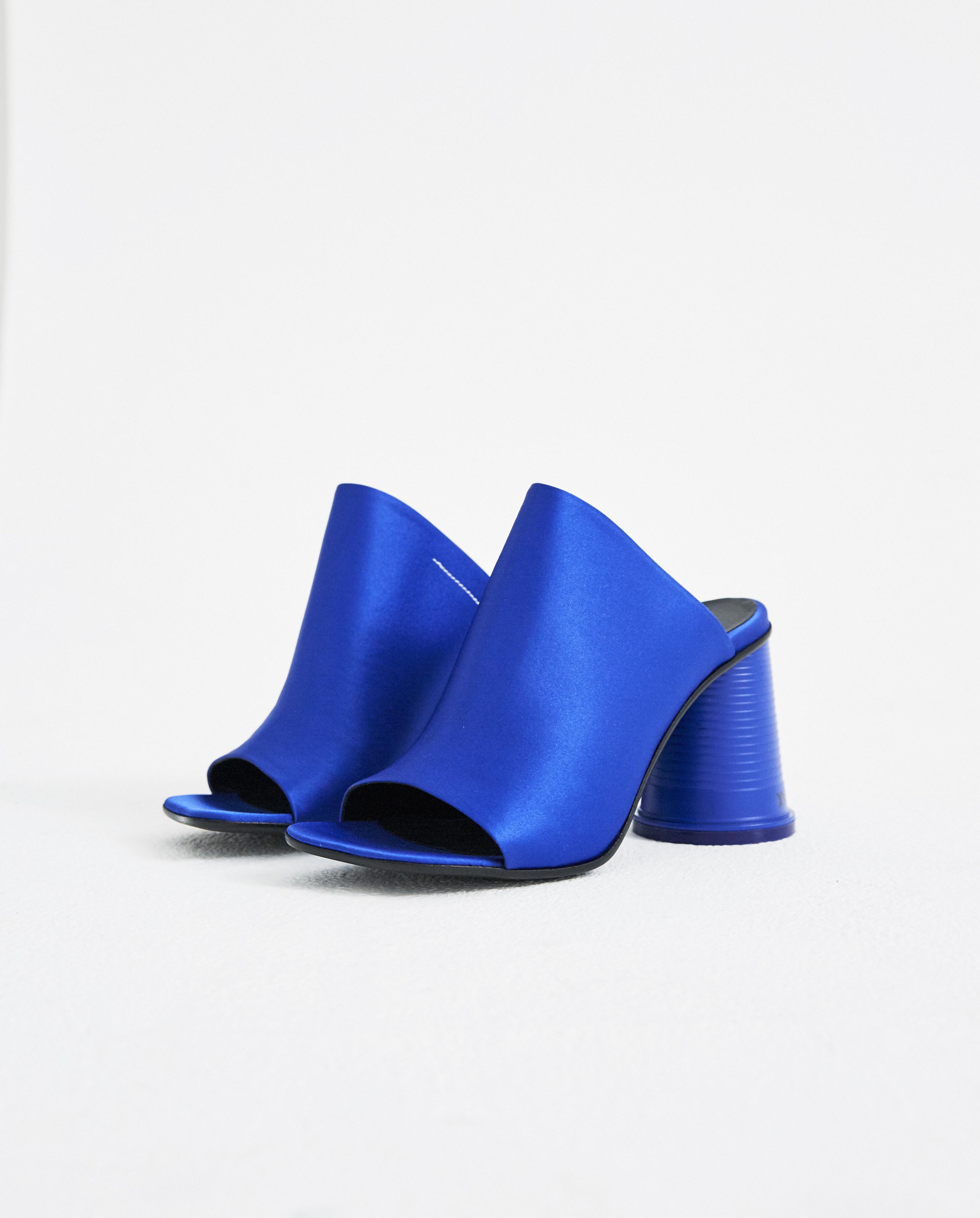 Maison Margiela Blue Satin Cup To Go Sandals wjouE