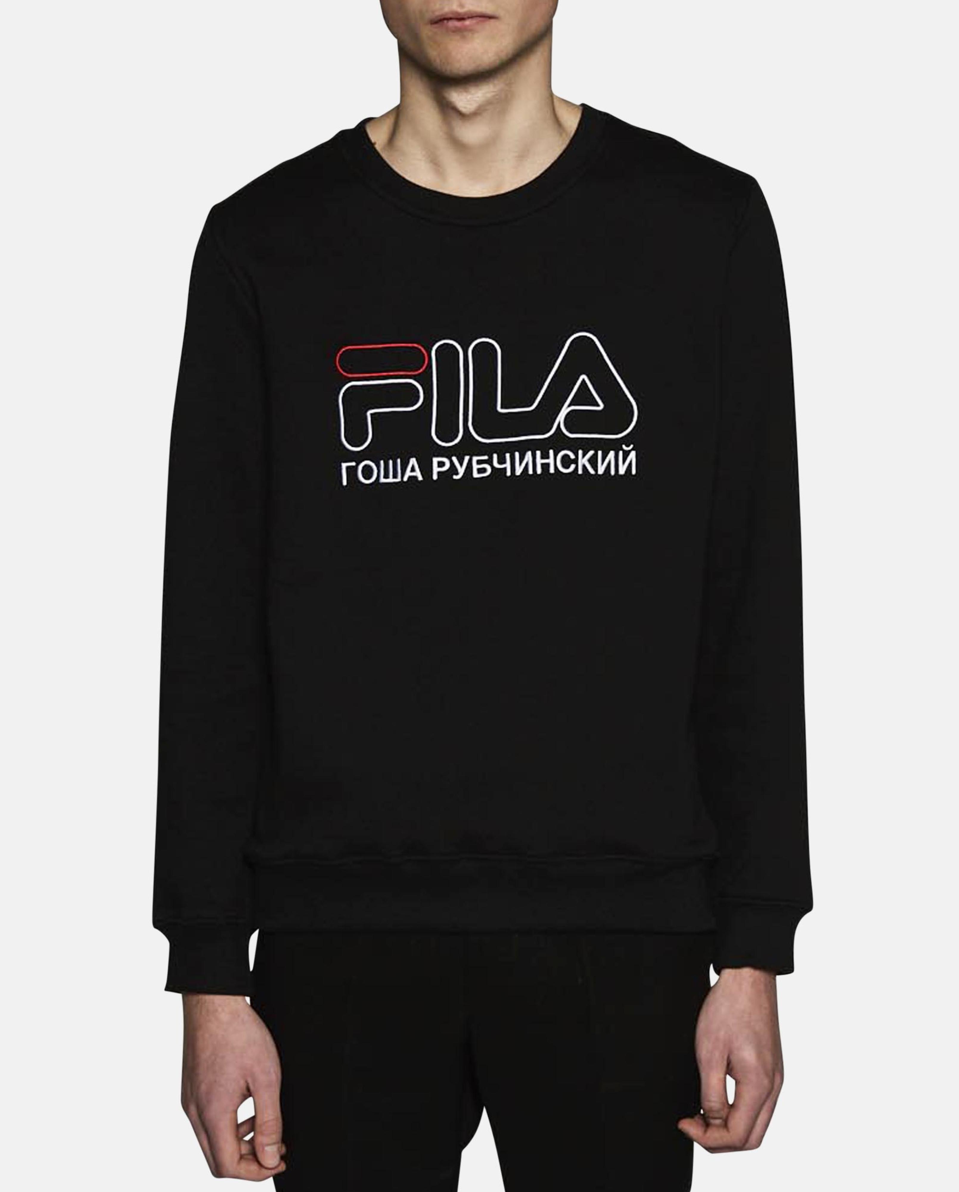 2f82a2e5aa1 Sweatshirt Gosha Fila Men Black Rubchinskiy For Lyst In tzPSwxqq