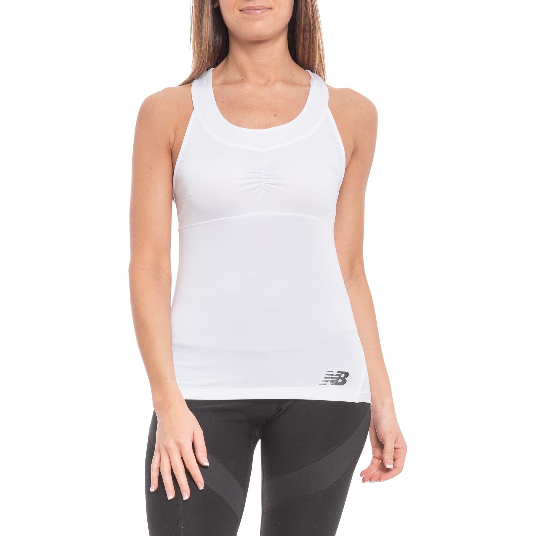 f48aa05a8244f Lyst - New Balance Printed Baseline Racerback Tank Top (for Women ...