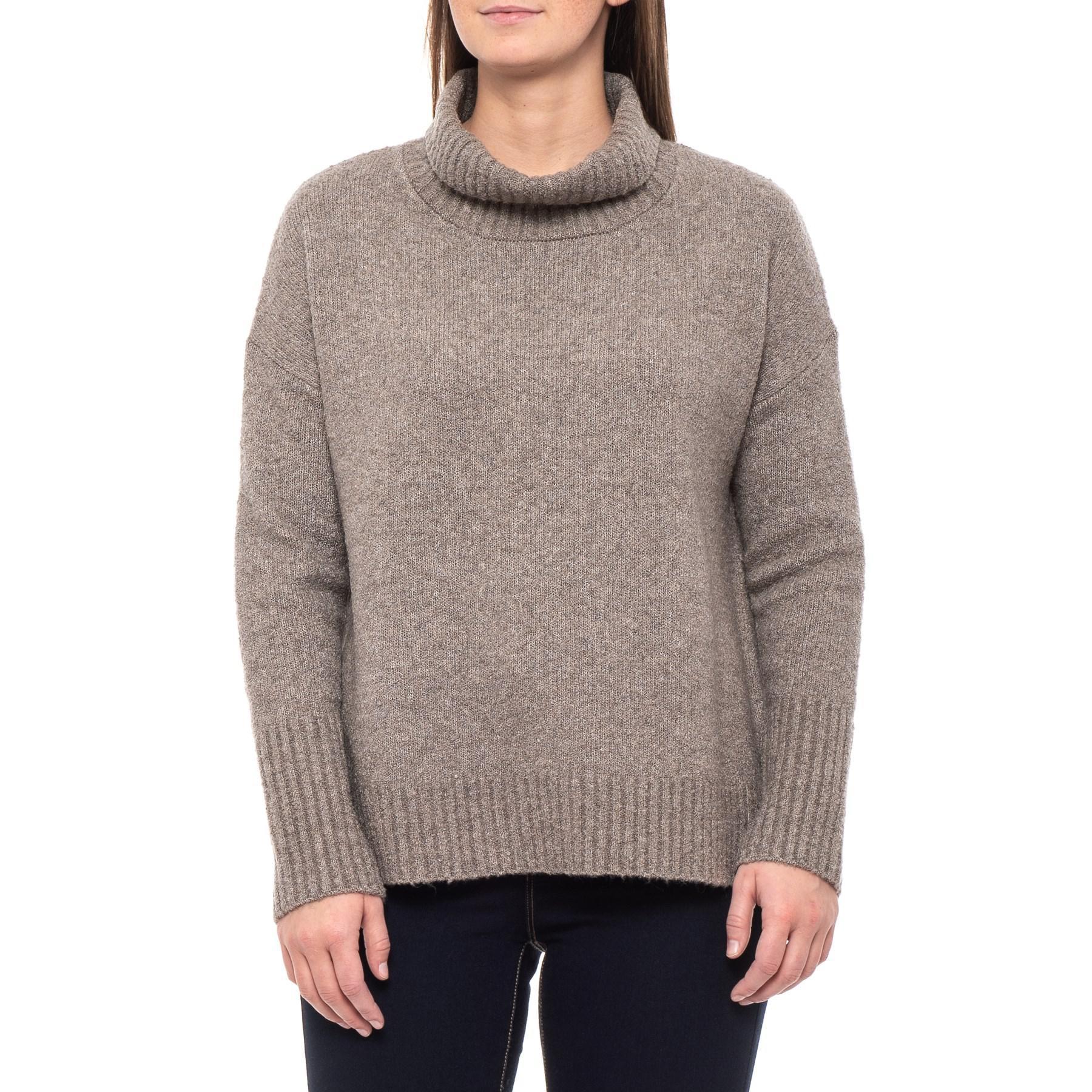 35966108686 Rachel Zoe Boucle Turtleneck Sweater (for Women) in Gray - Lyst