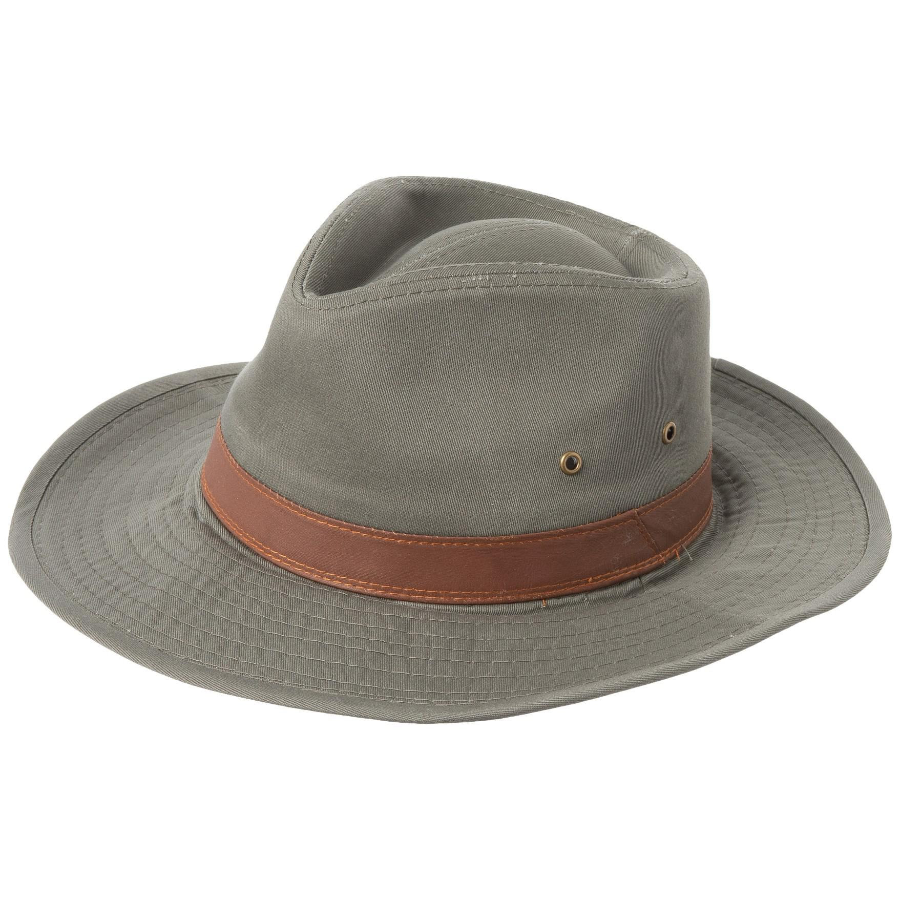 40533498930 Lyst - Dorfman Pacific Garment-washed Twill Shapeable Outback Hat in ...