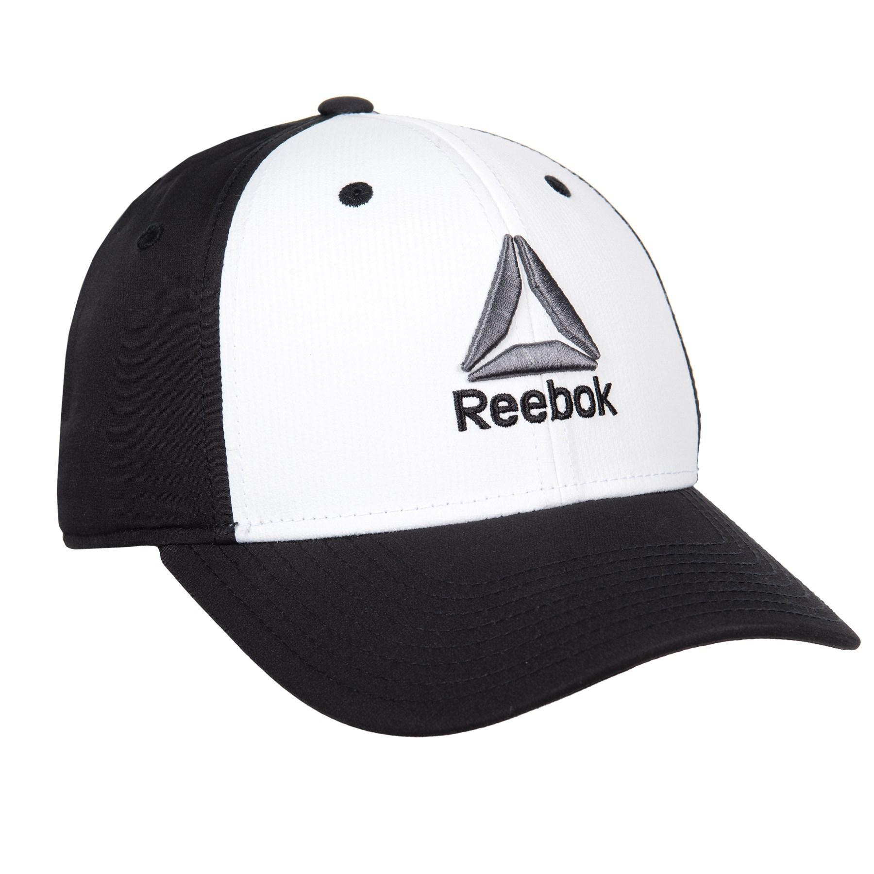 79fc1e990ab Reebok - Black Structured Stretch Colorblock Cap (for Men) for Men - Lyst.  View fullscreen