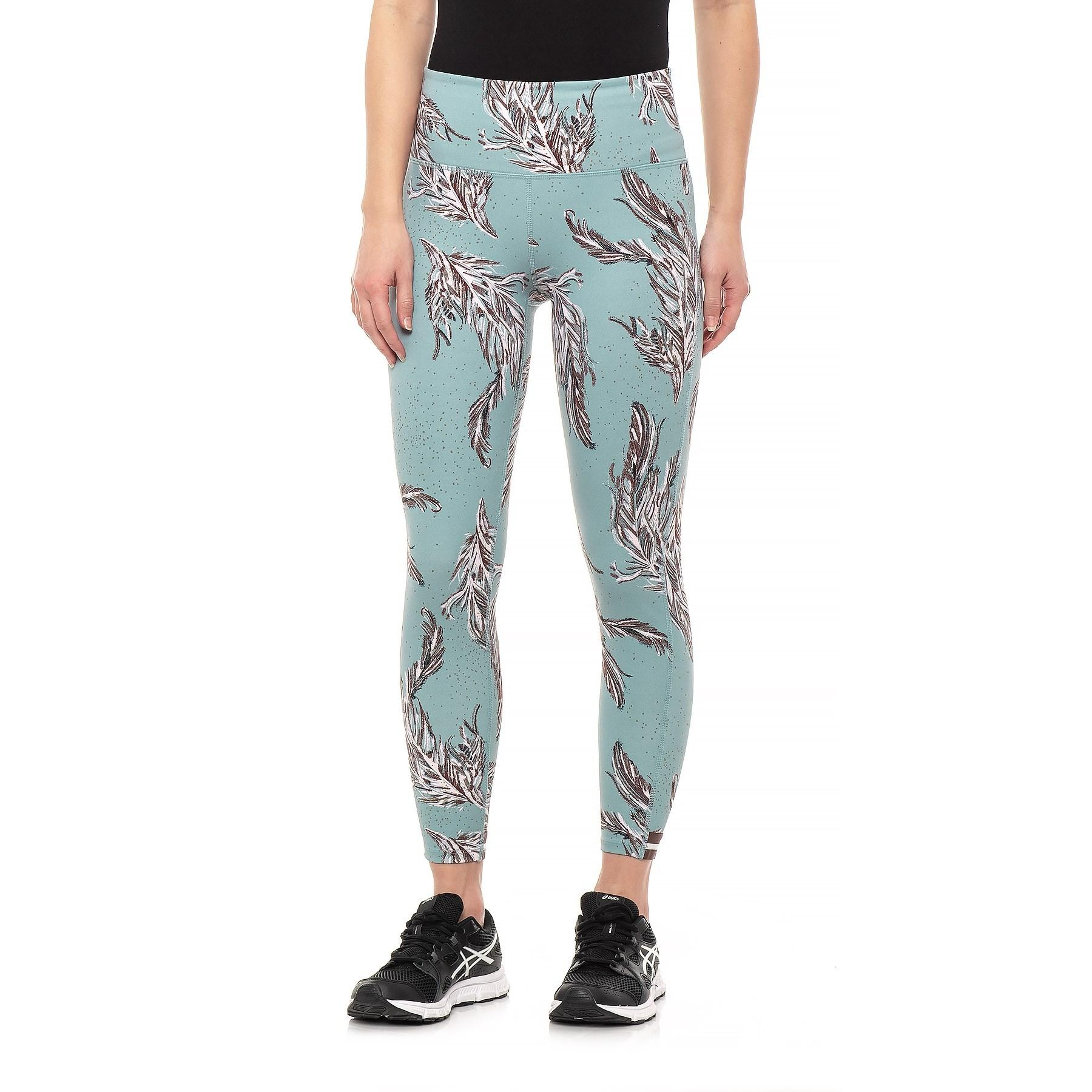 96a98f7d50 Lyst - Free People Serene Printed Yoga Leggings (for Women) in Blue