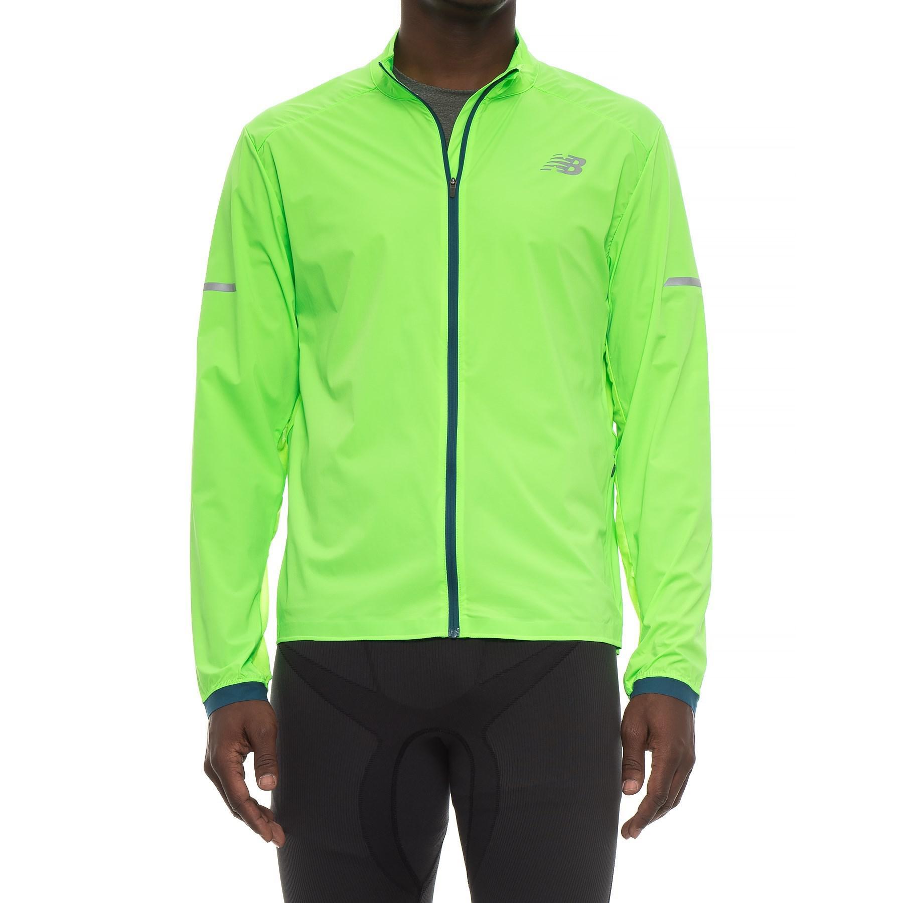 Lyst New Balance Speed Running Jacket For Men In Green For Men