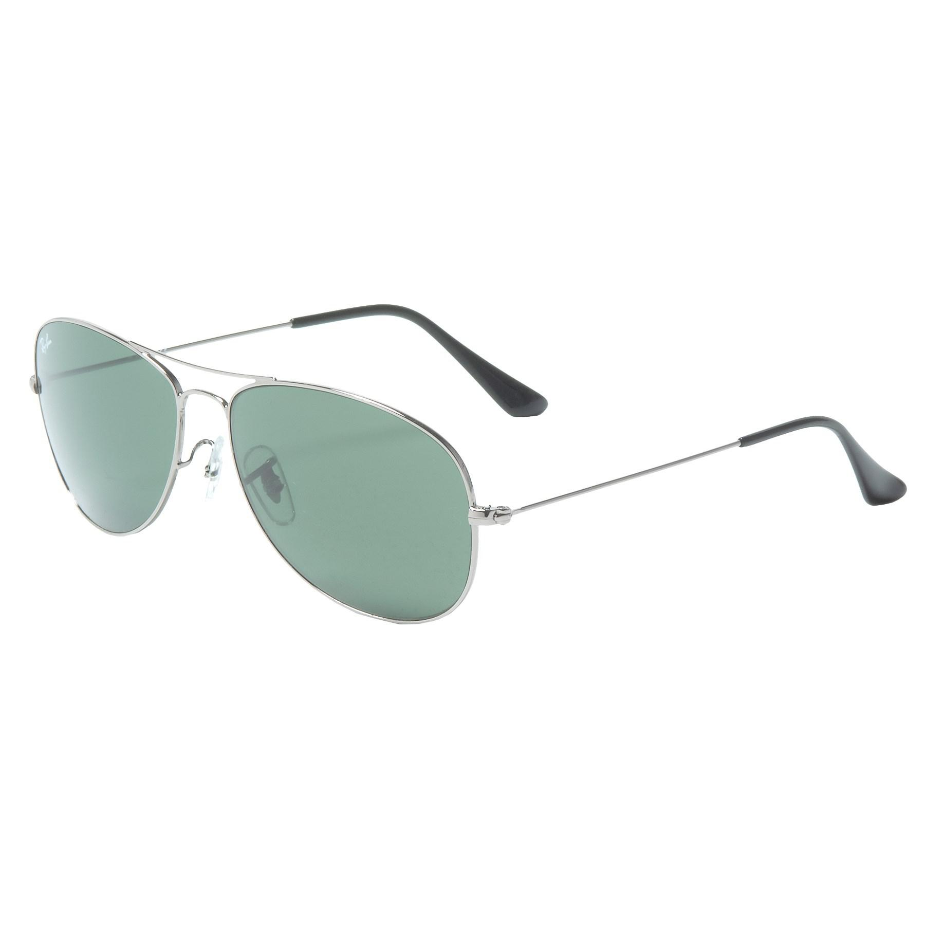 cc1e9d3f398d1d Lyst - Ray-Ban Cockpit Aviator Classic Sunglasses in Green for Men