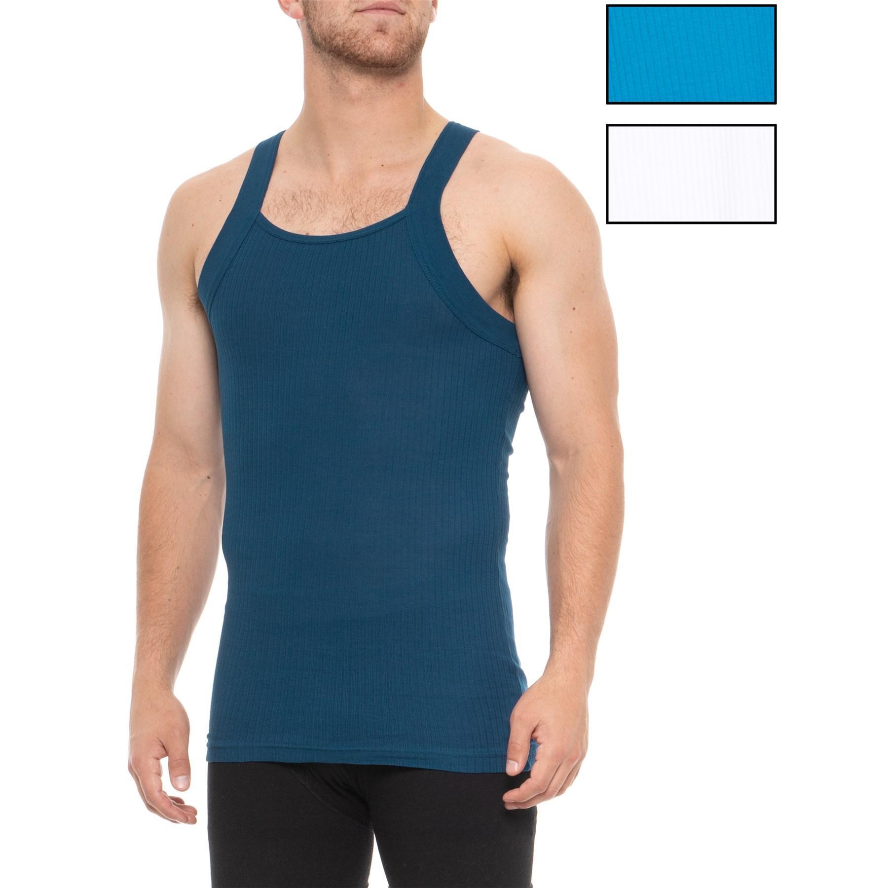 a2c3c932a5f1c Lyst - 2xist Essential Square-cut Tank Top in Blue for Men