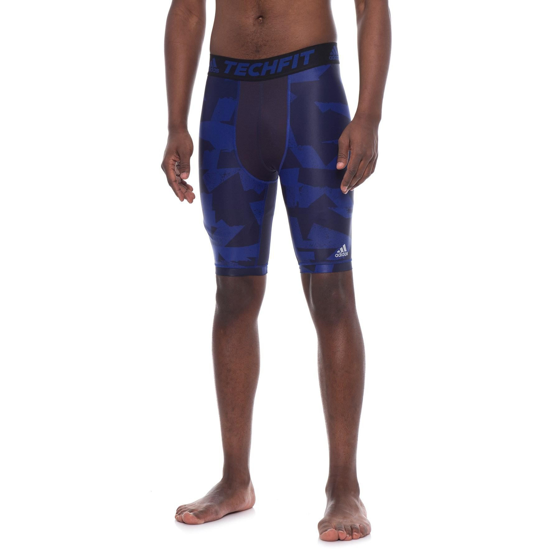 Lyst adidas Techfit Chill Training Shorts in Blue for Men