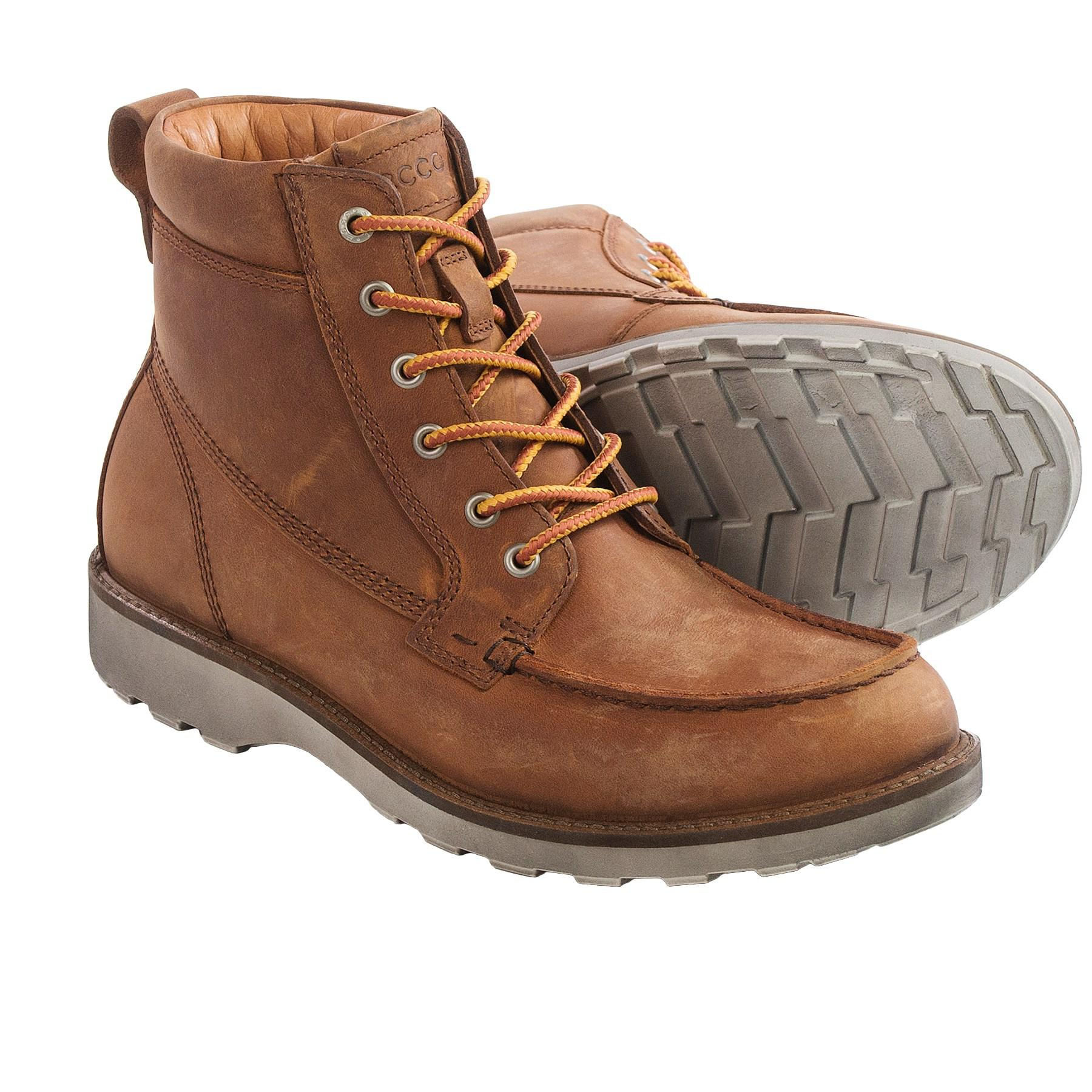 47a155206a Ecco Holbrok Moc Lace Boots in Brown for Men - Lyst