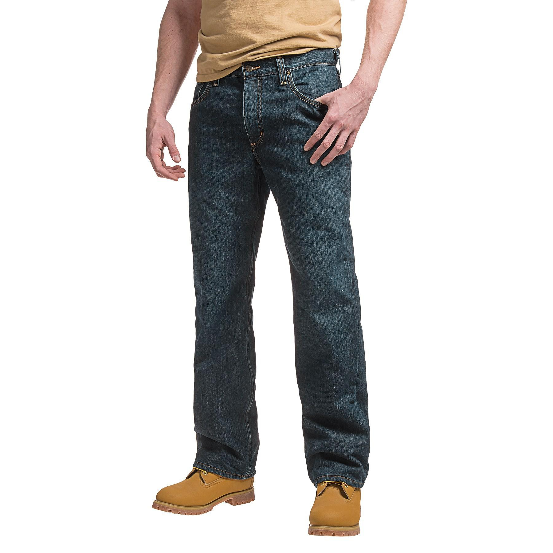 204a4832 Lyst - Carhartt Holter Fleece-lined Jeans in Blue for Men