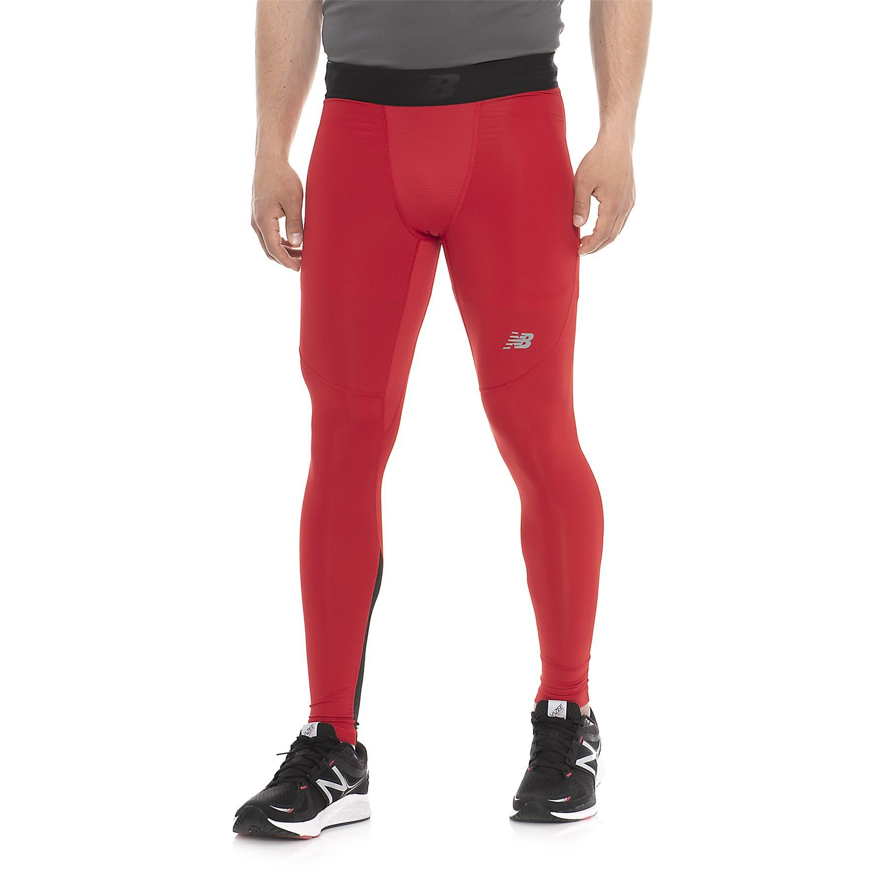fc567c84aa29c New Balance Challenge Tights in Red for Men - Lyst