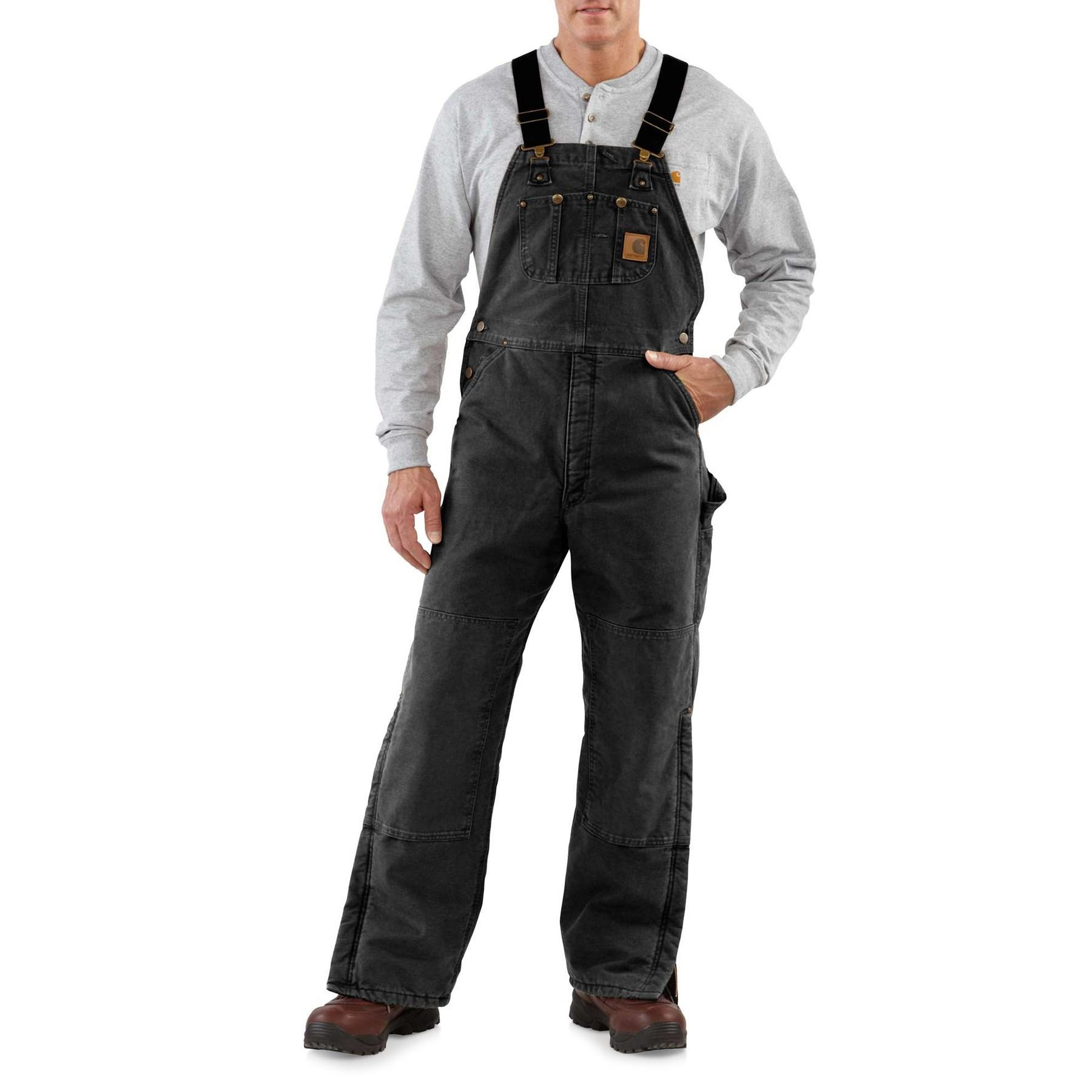 fresh styles cheaper latest discount Lyst - Carhartt Quilt-lined Sandstone Bib Overalls in Black ...