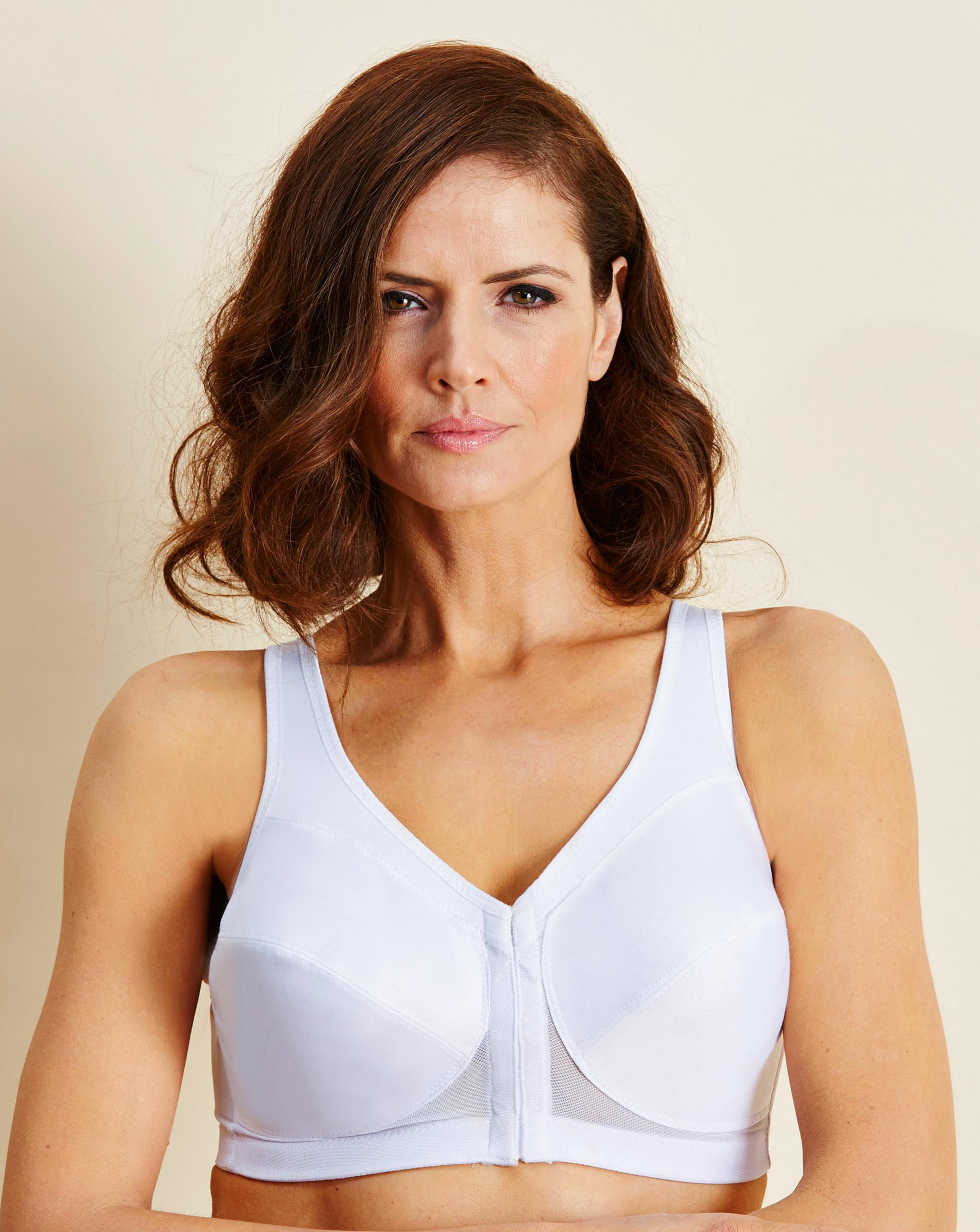 2fd506740757d Lyst - Simply Be Glamorise Back Support Non Wired Cafe Bra in White