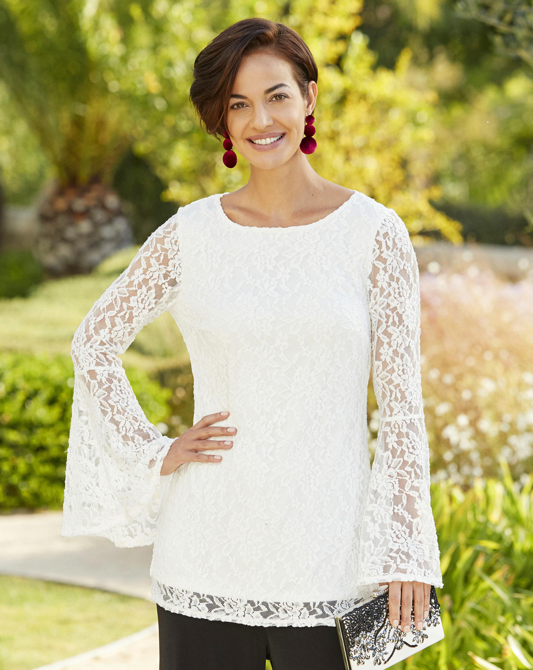 6eb5d8b2e90 Lyst - Simply Be Joanna Hope Lace Tunic in White