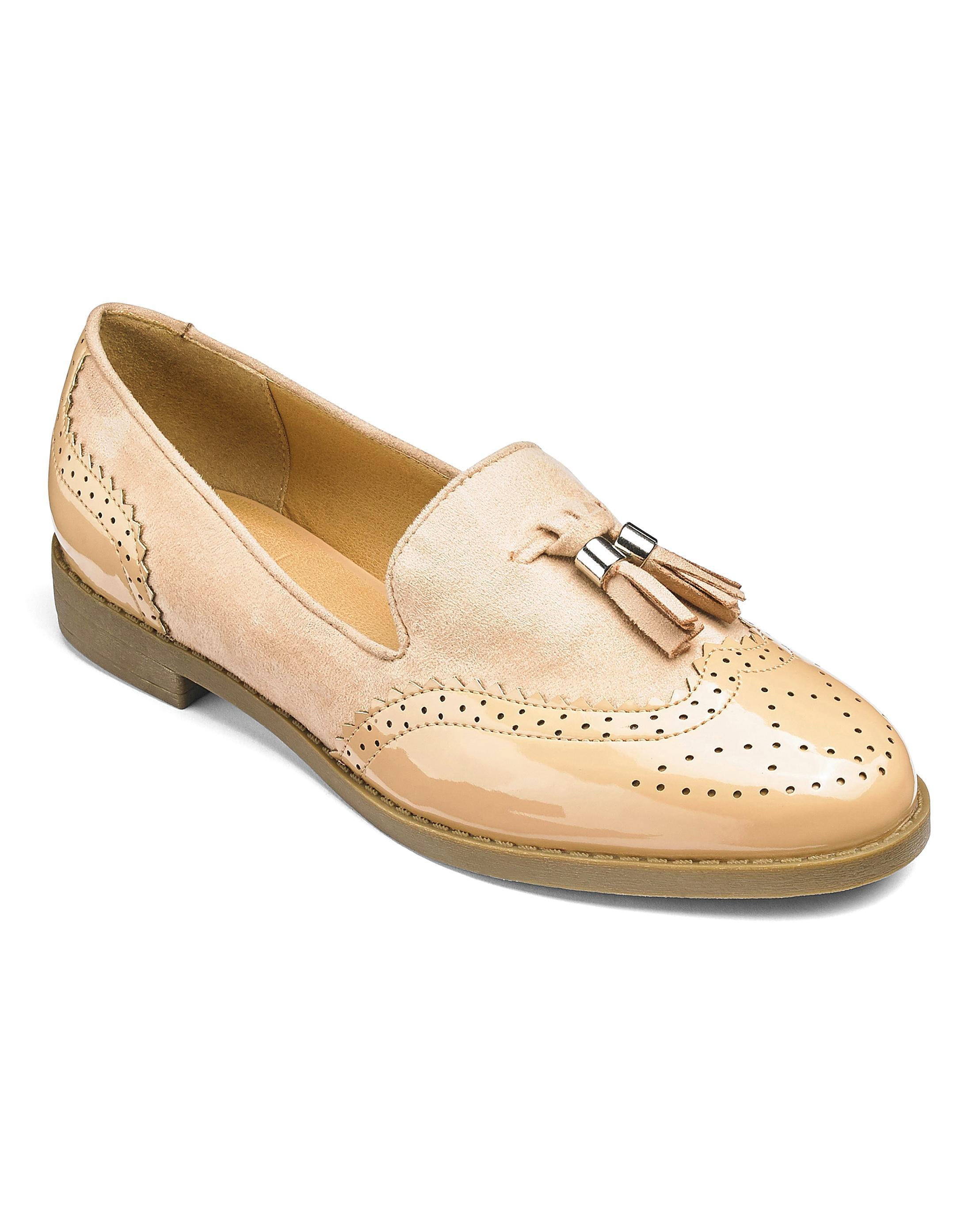 d3a040ce2cc Lyst - Simply Be Sole Diva Tassel Loafers in Natural