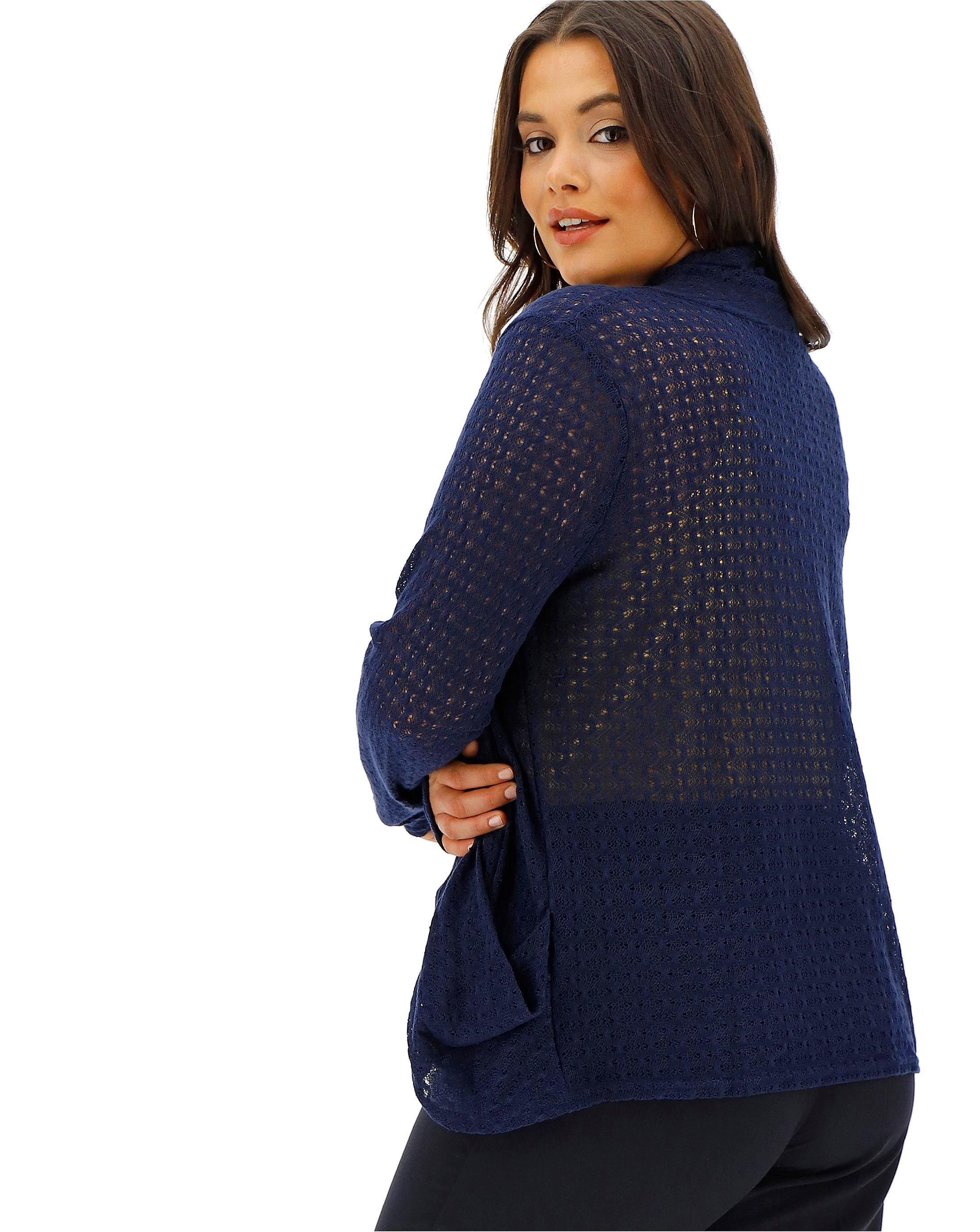 ef722982313c Lyst - Simply Be Oasis Curve Lace Drape Cardigan in Blue