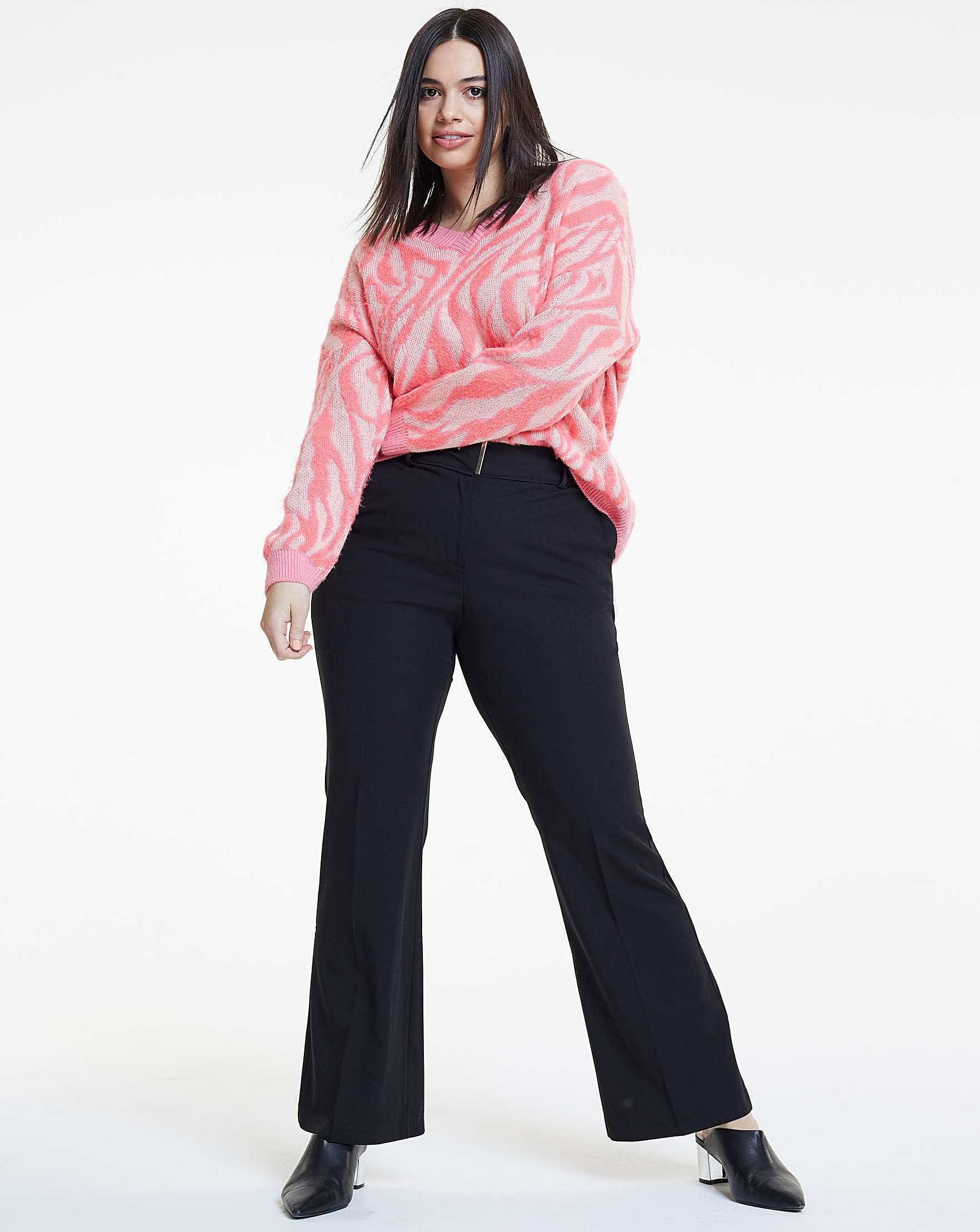 278be68b32b28 Simply Be Workwear Bootcut Trousers Petite in Black - Lyst