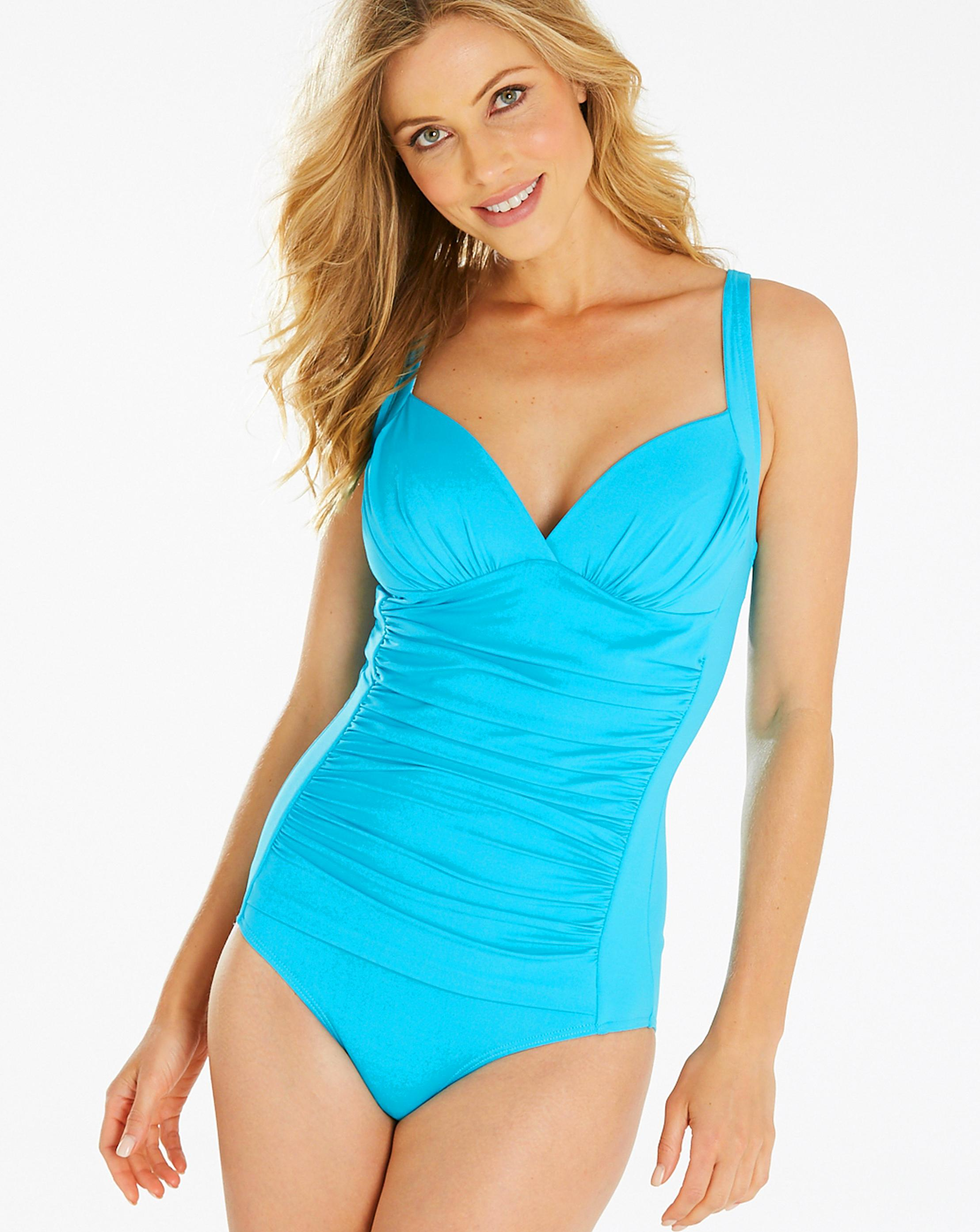 38222e2ea2 Lyst - Simply Be Magisculpt Classic Swimsuit in Blue