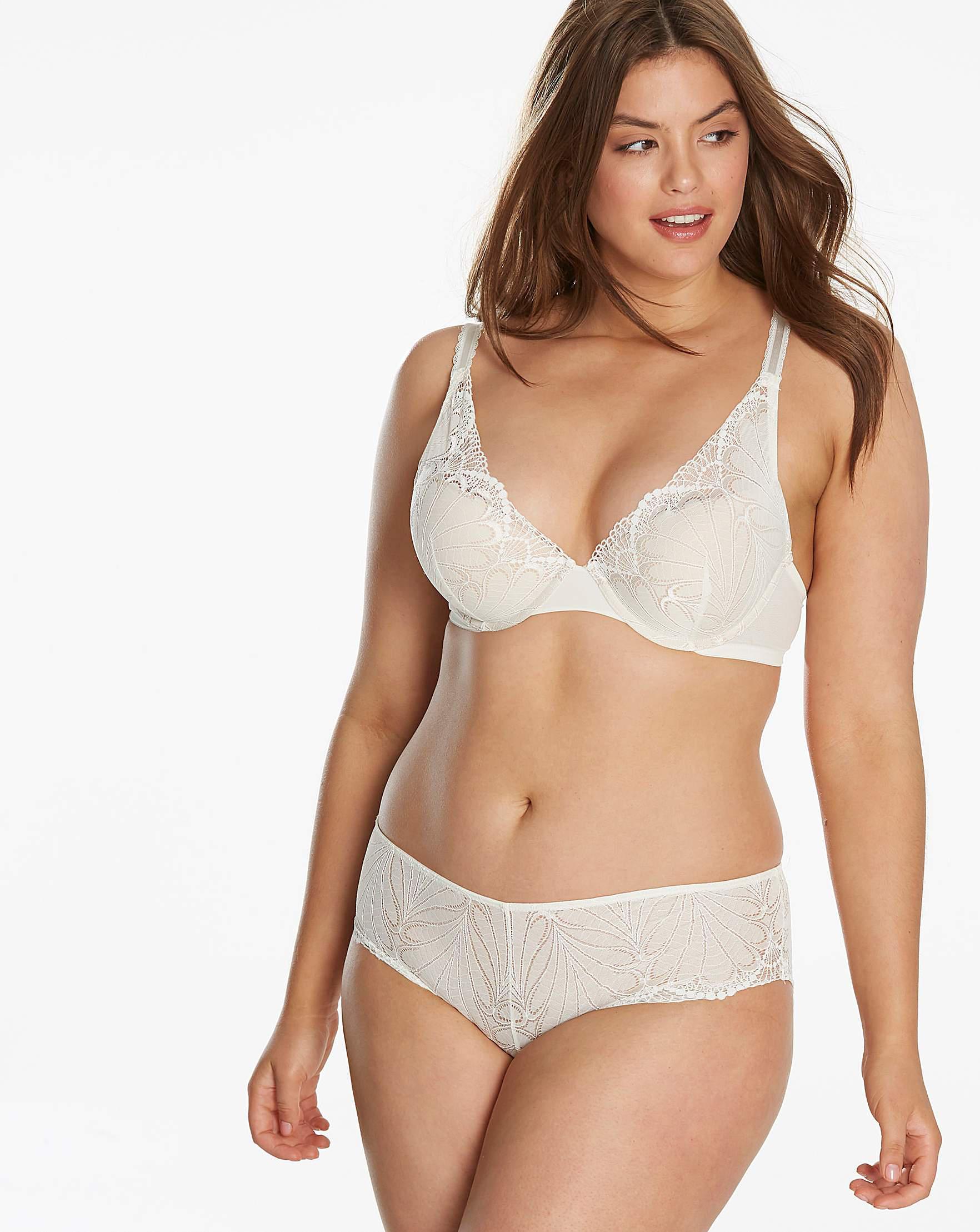 75156cfb45866 Wonderbra Refined Glamour Triangle Bra in White - Lyst