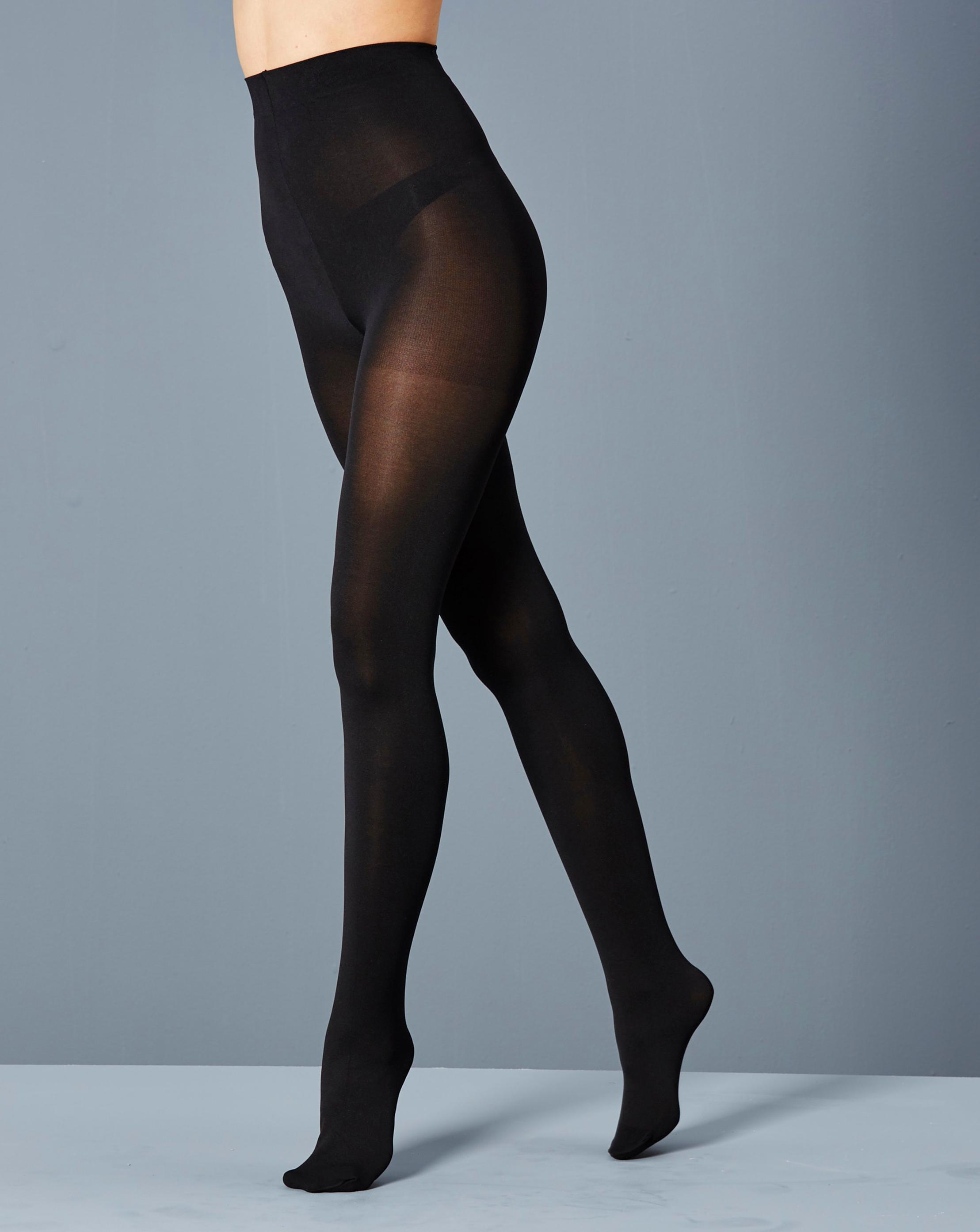 c4d206ef372 Simply Be 2 Pack Opaque 100 Denier Pantyhose in Black - Lyst