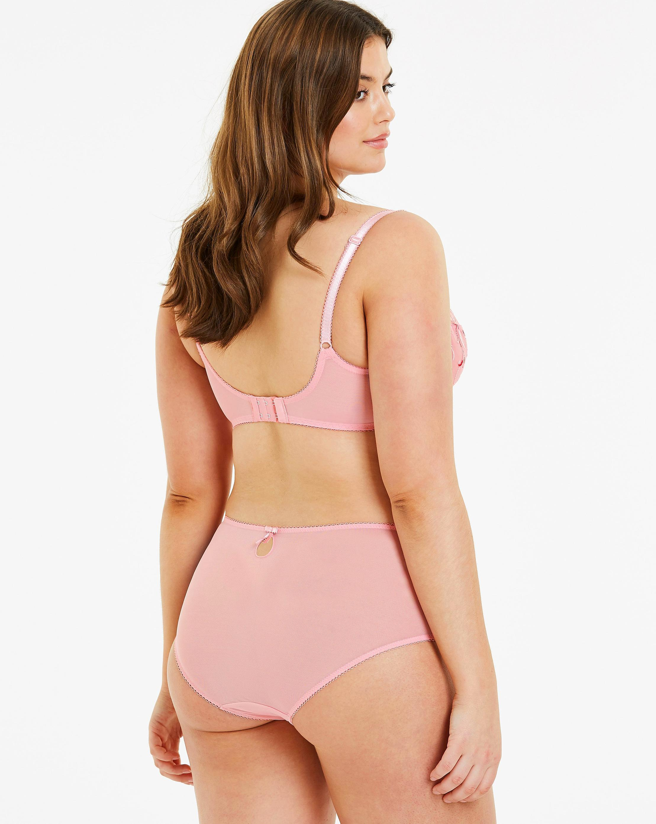 e534fff30eb4d Lyst - Simply Be Pretty Secrets Chrissie 2 Pack Embroidered Full Cup Bras  in Pink