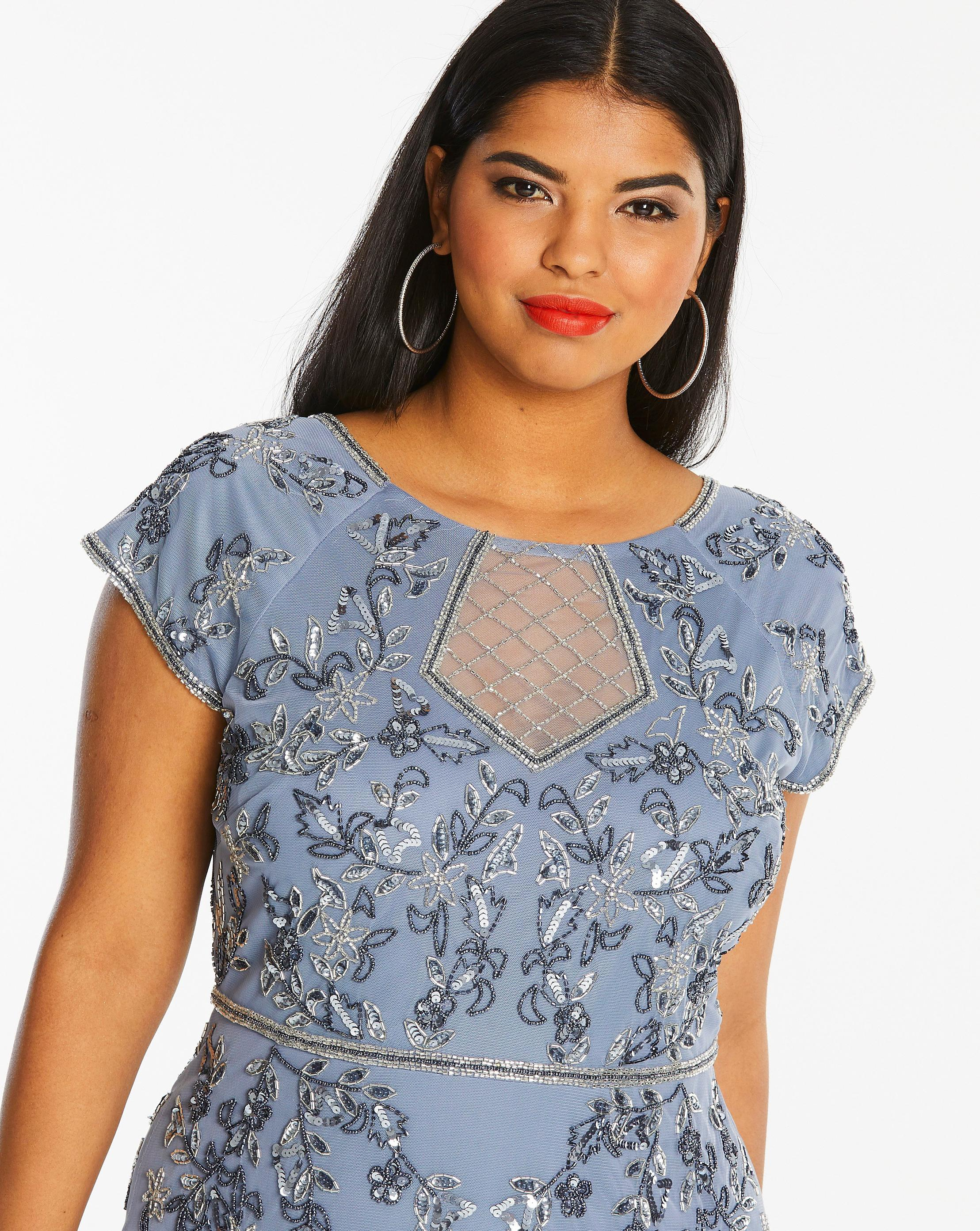 1f66104b81 Simply Be Joanna Hope Beaded Maxi Dress in Blue - Save 41% - Lyst