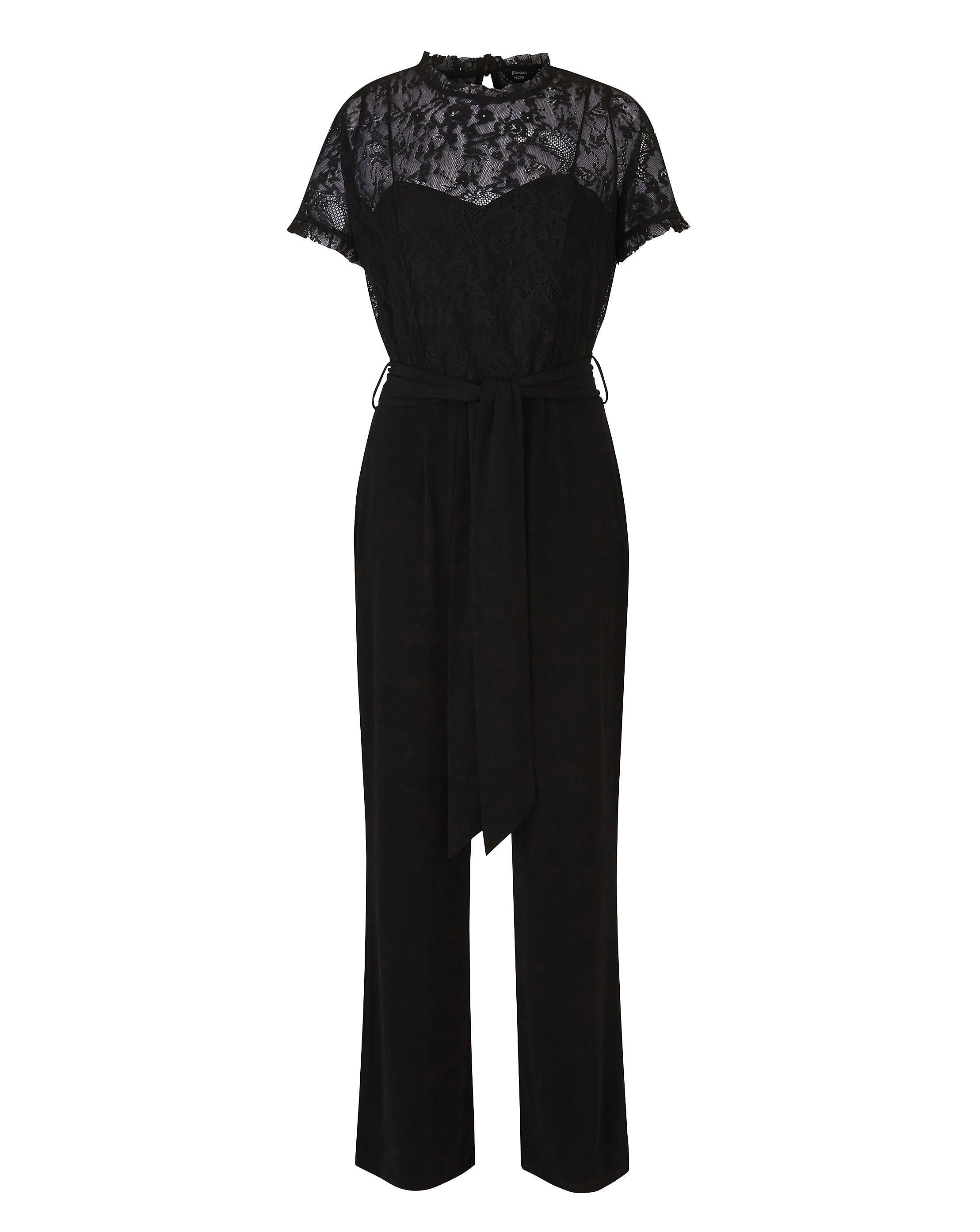 9403d10beb0 Lyst - Simply Be Joanna Hope Lace Top Jumpsuit in Black