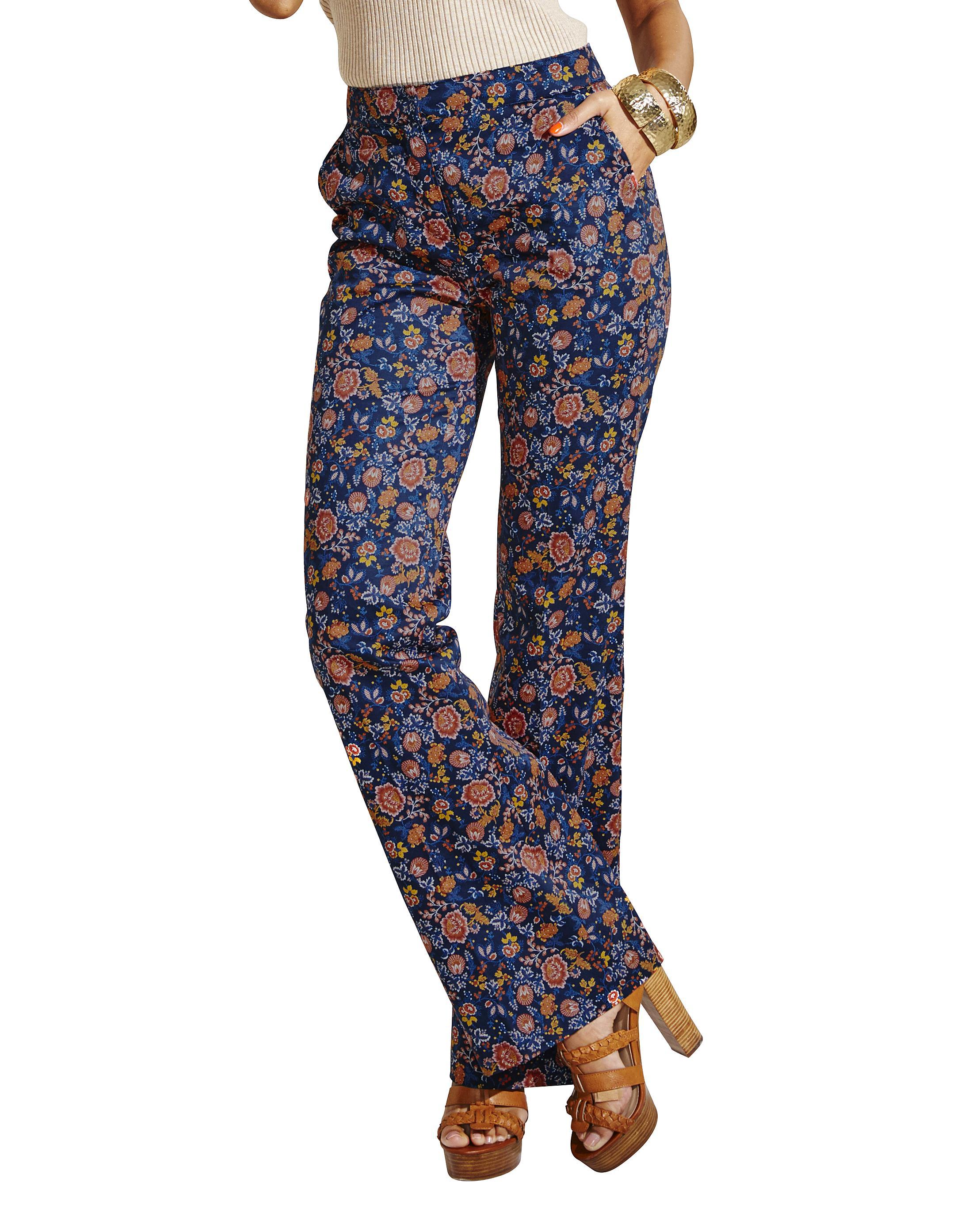 Womens Cotton Sateen Kickflare Trouser