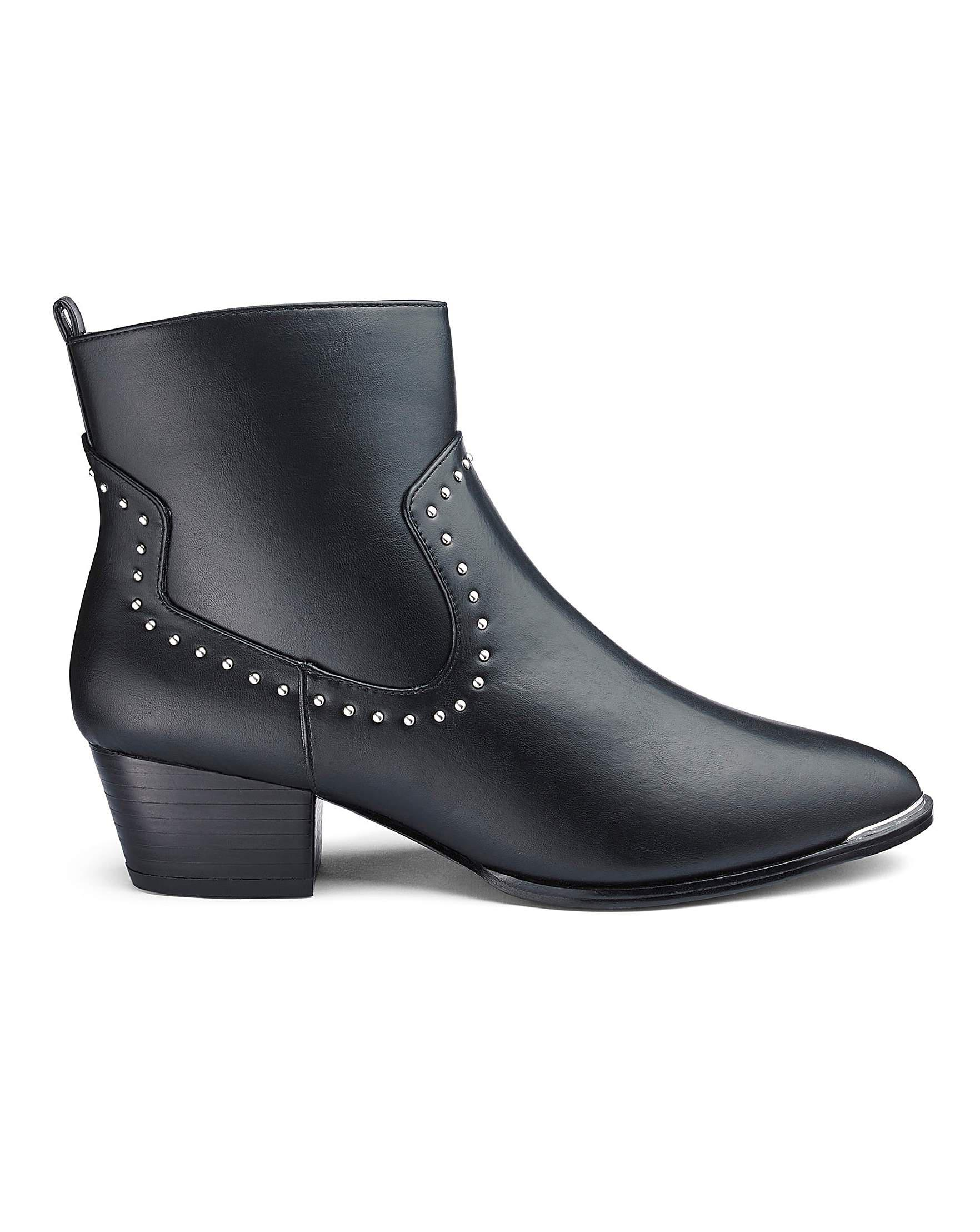307191bb2fa Simply Be Mhairi Western Boot Extra Wide Fit in Black - Lyst