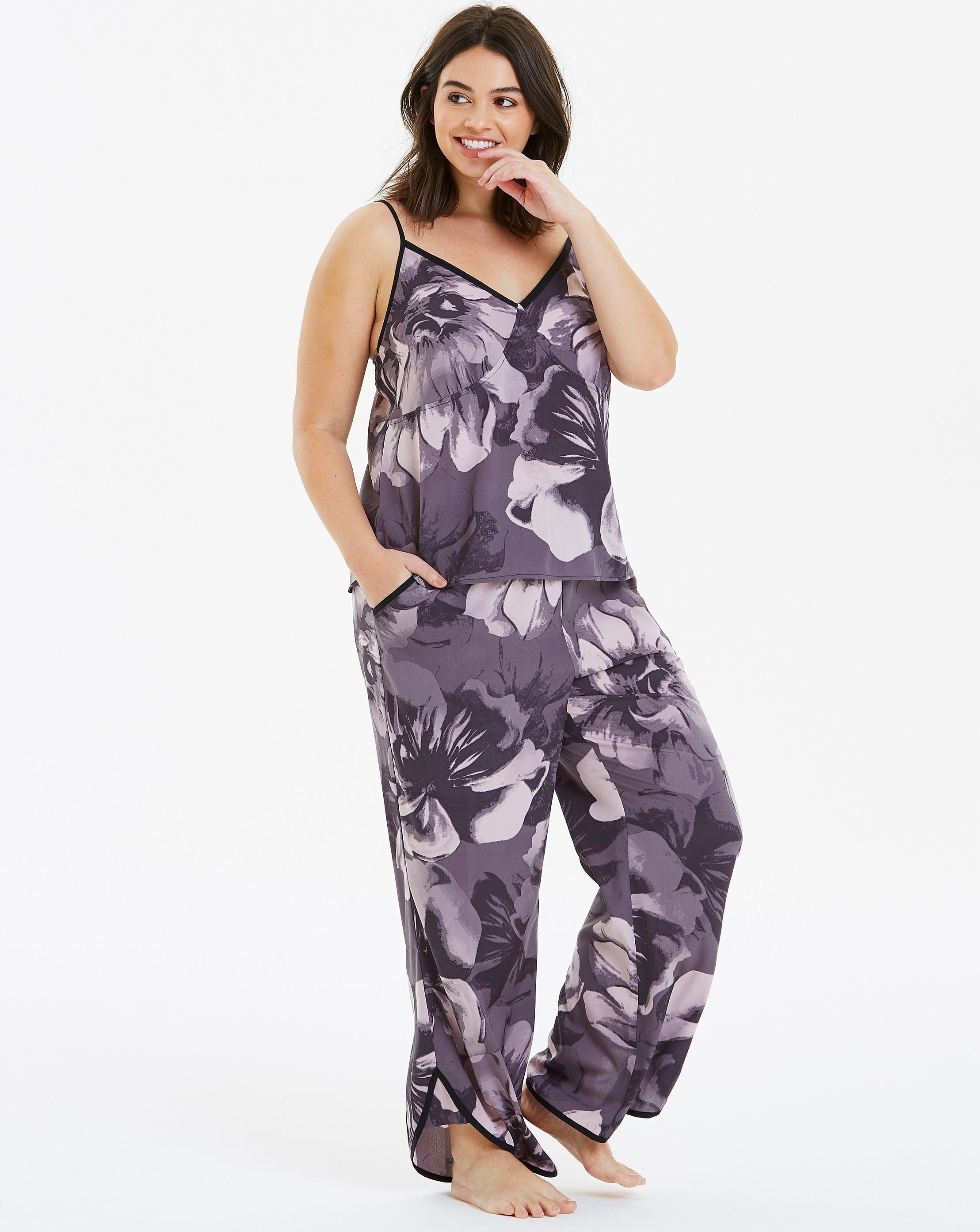 Lyst - Simply Be Pretty Secrets Lace Trim Cami Pj Set in Purple 2438bbc0a
