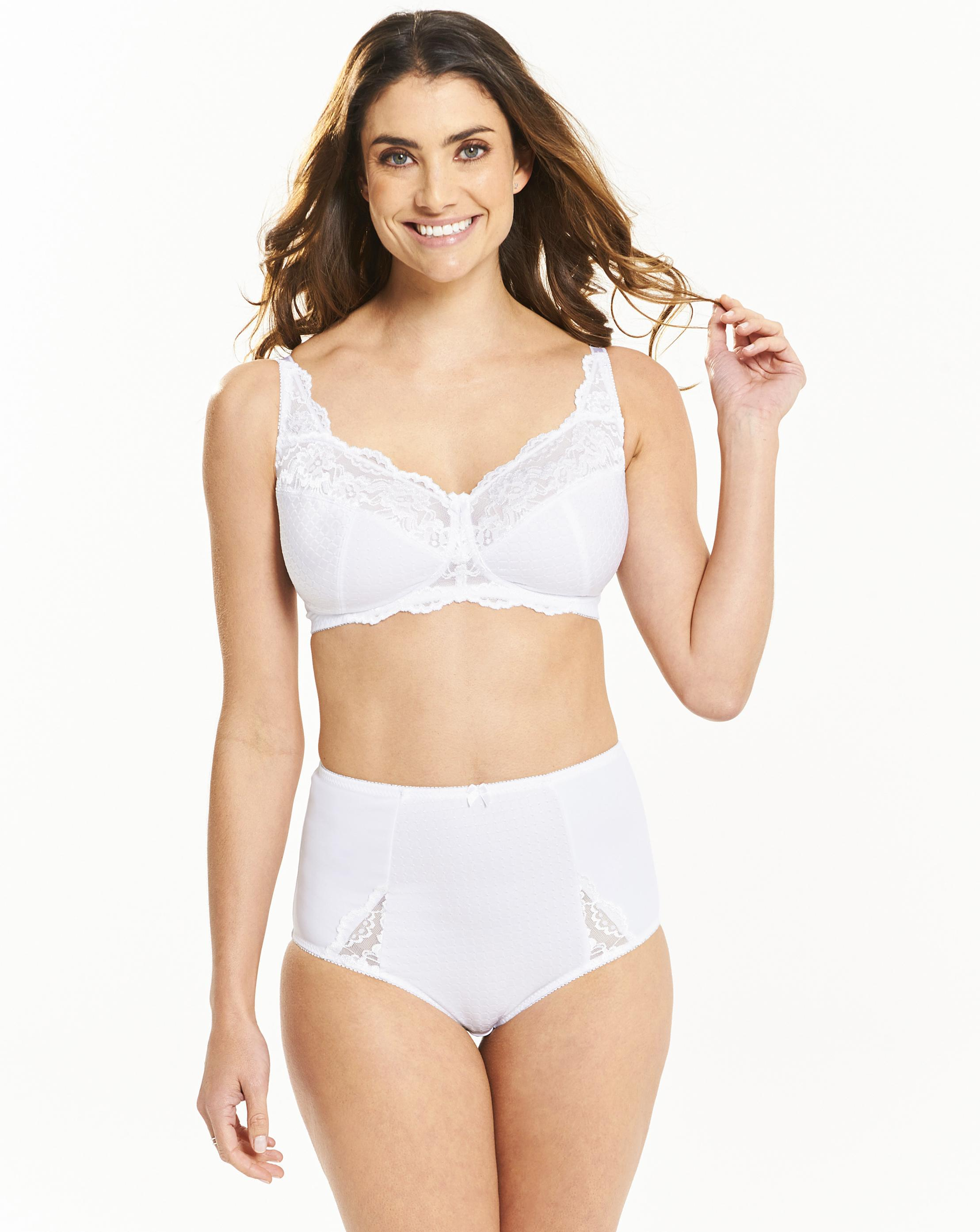 c8cac8ec0d2e8 Lyst - Simply Be Pretty Secrets White Ruby Non Wired Bra in White