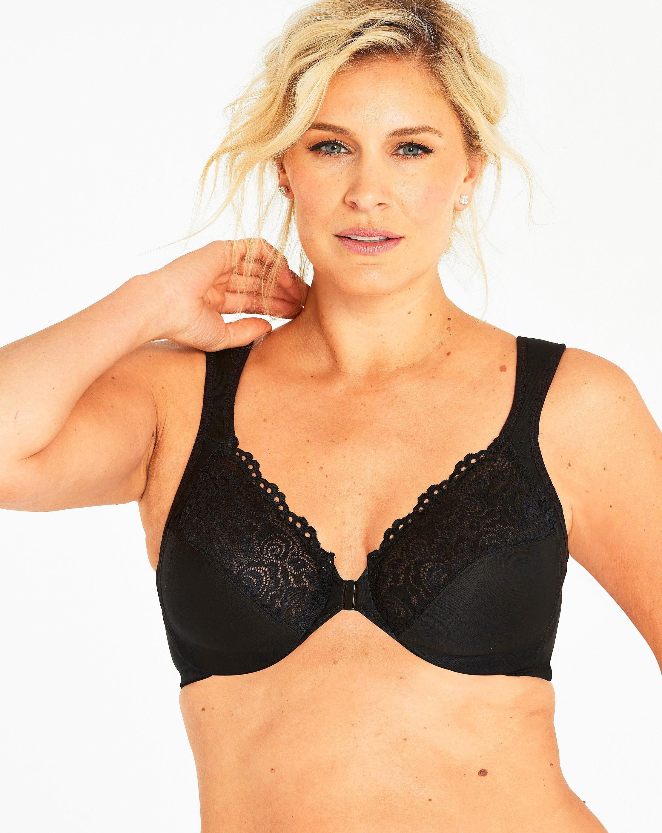 d66360f4491c9 Lyst - Simply Be Glamorise Elegance Front Fastening Bra in Black