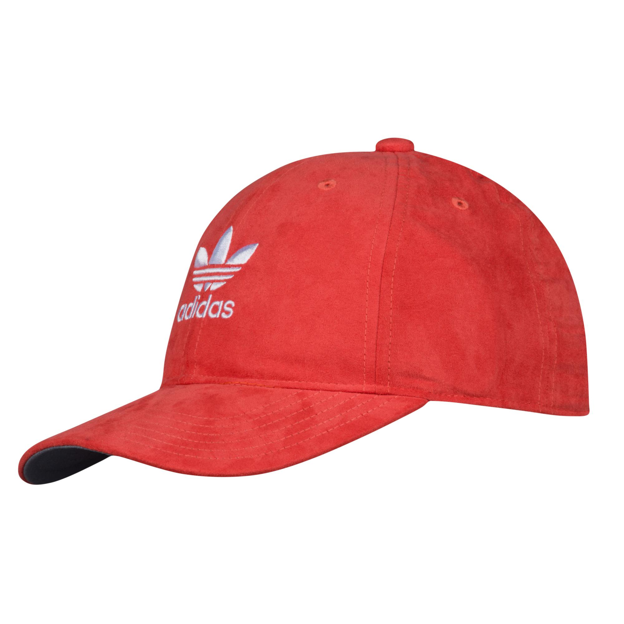 240dabc09c8e9 adidas Originals Suede Relaxed Strapback Hat in Red - Save 58% - Lyst