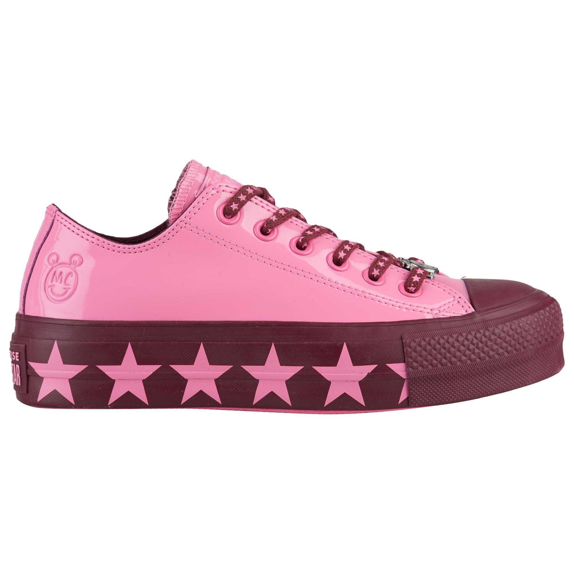 42e9e8e04e3f Lyst - Converse X Miley Cyrus All Star Lift Ox in Pink