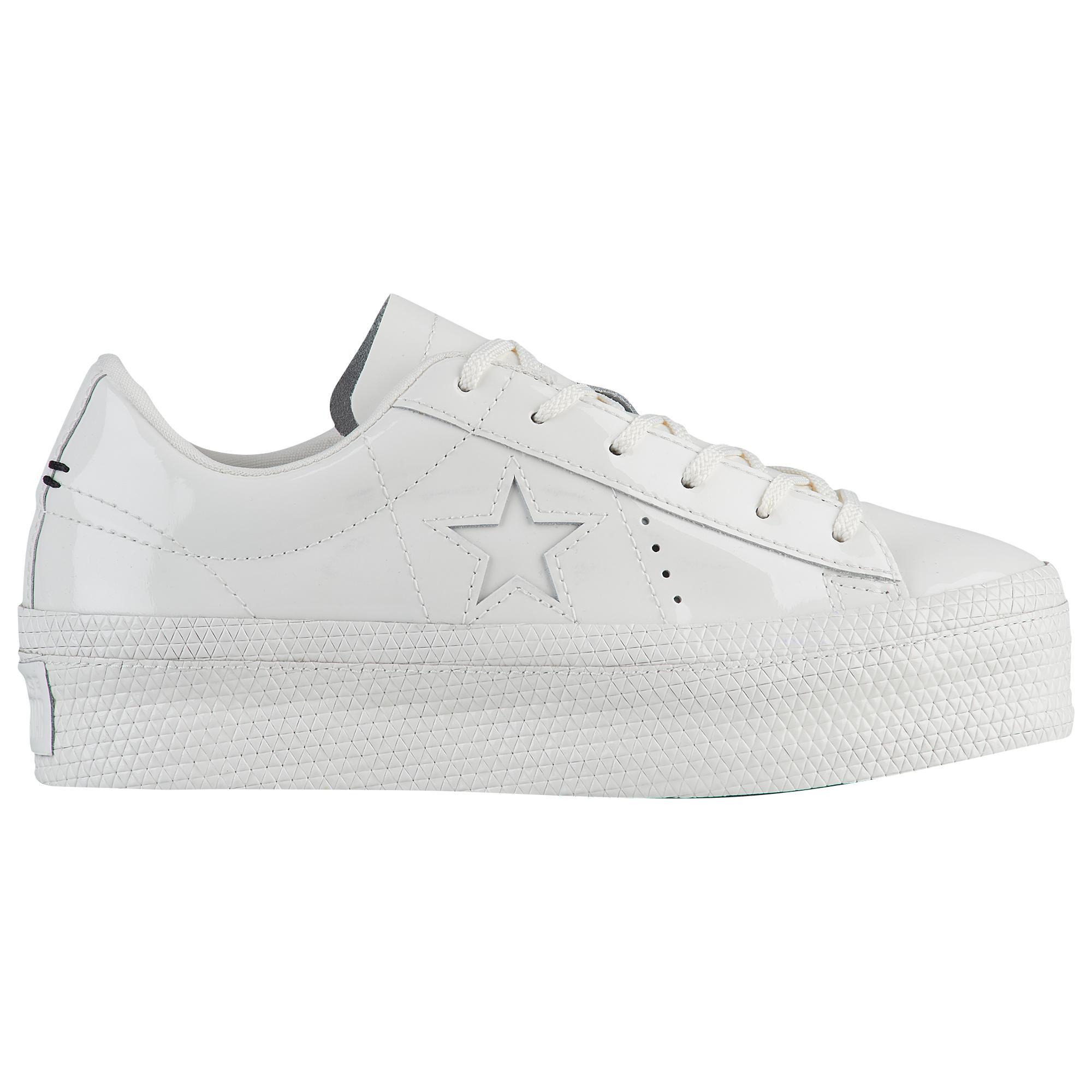 f236b9d1e0df Lyst - Converse One Star Platform Ox in White