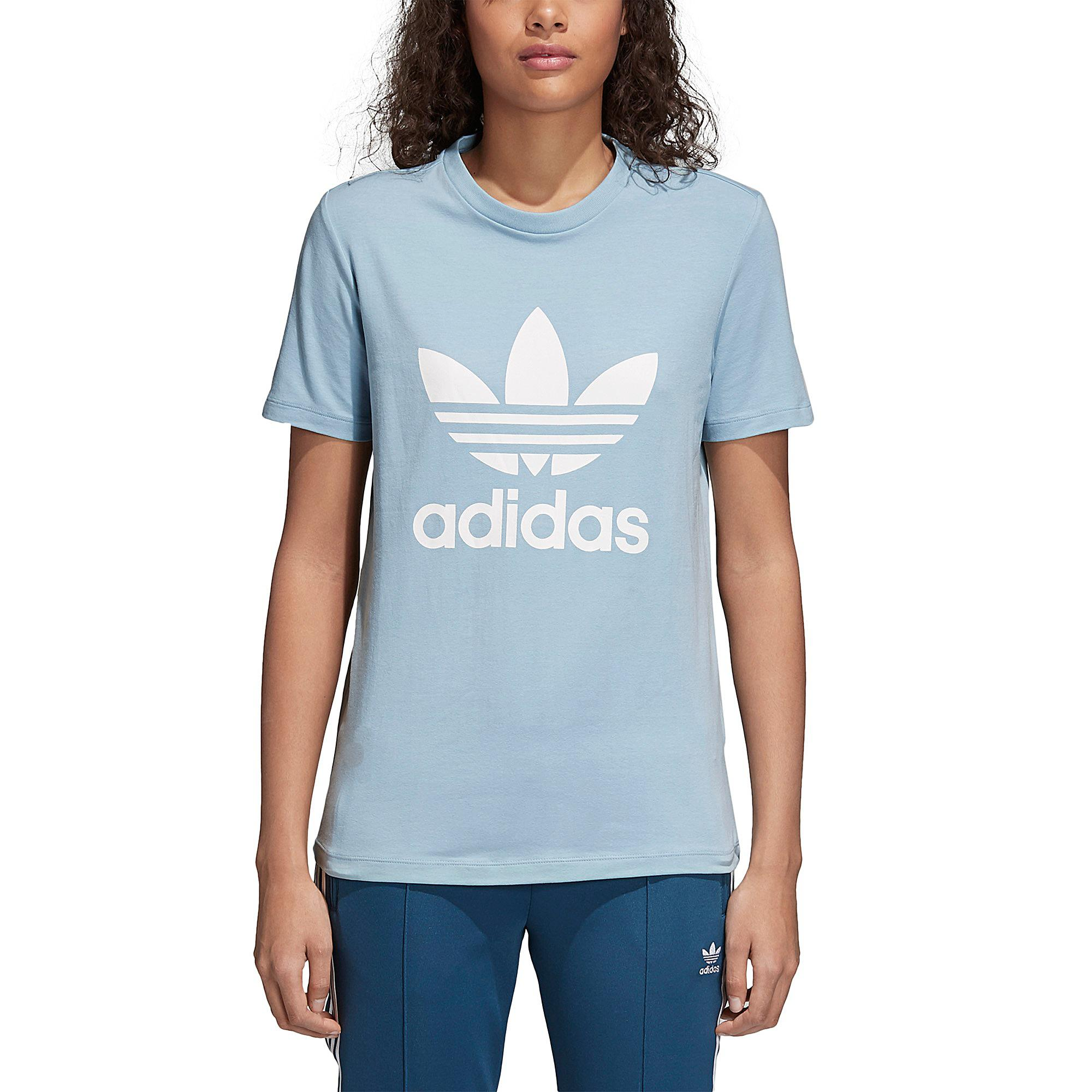 64b1fde9ad7 Lyst - adidas Originals Adicolor Trefoil T-shirt in Blue