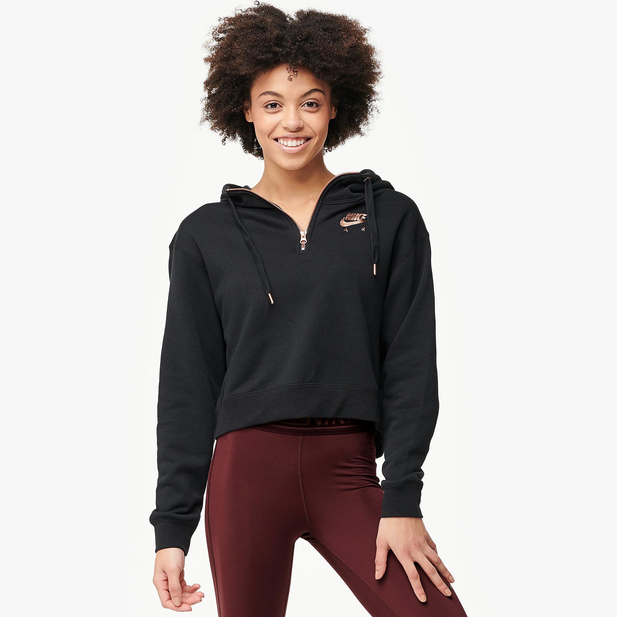 buy popular e58ca fe37a Nike. Women s Rose Gold Metallic Air Half-zip Hoodie