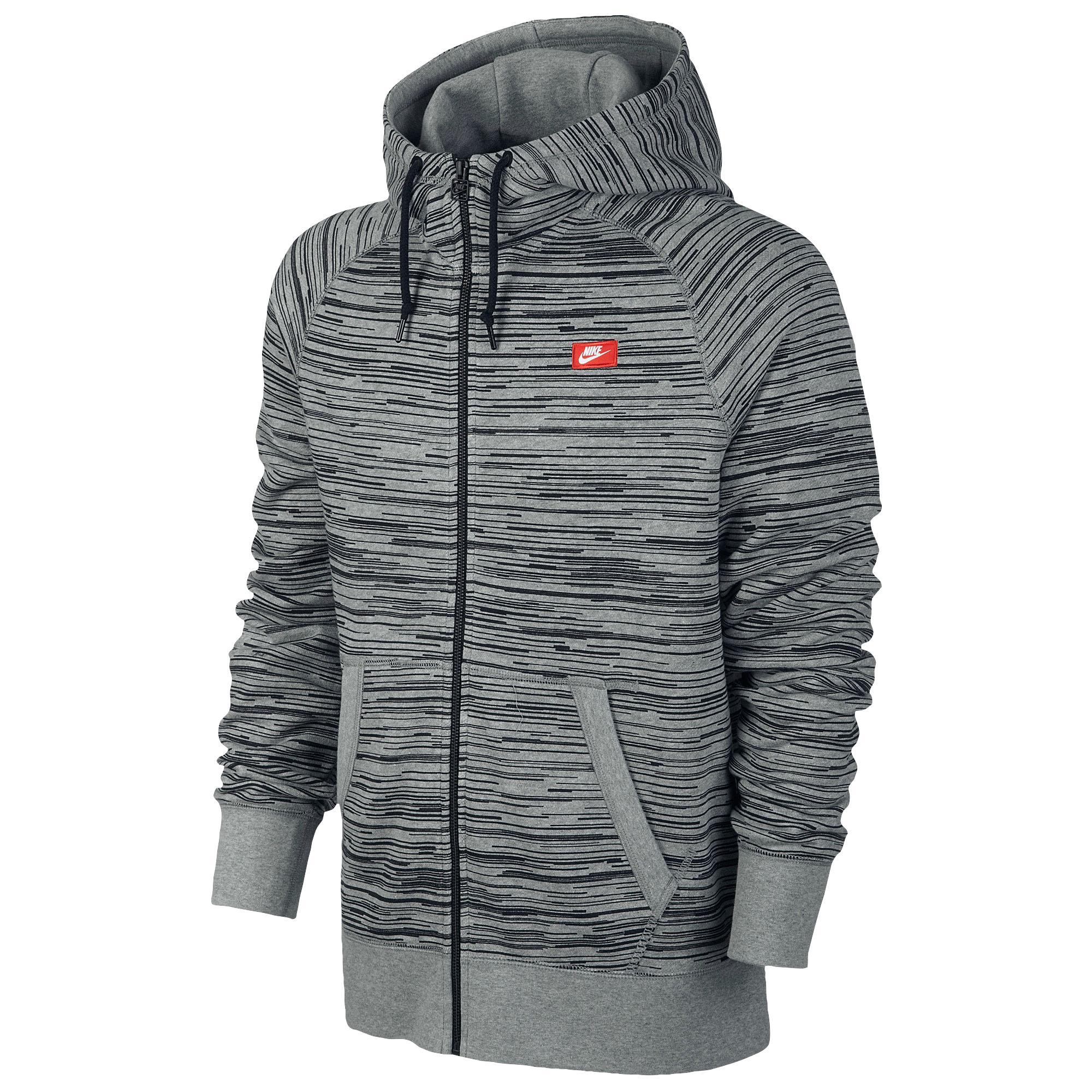 Lyst Nike Aw77 Full Zip Hoodie Aop Speed Stripe in Gray