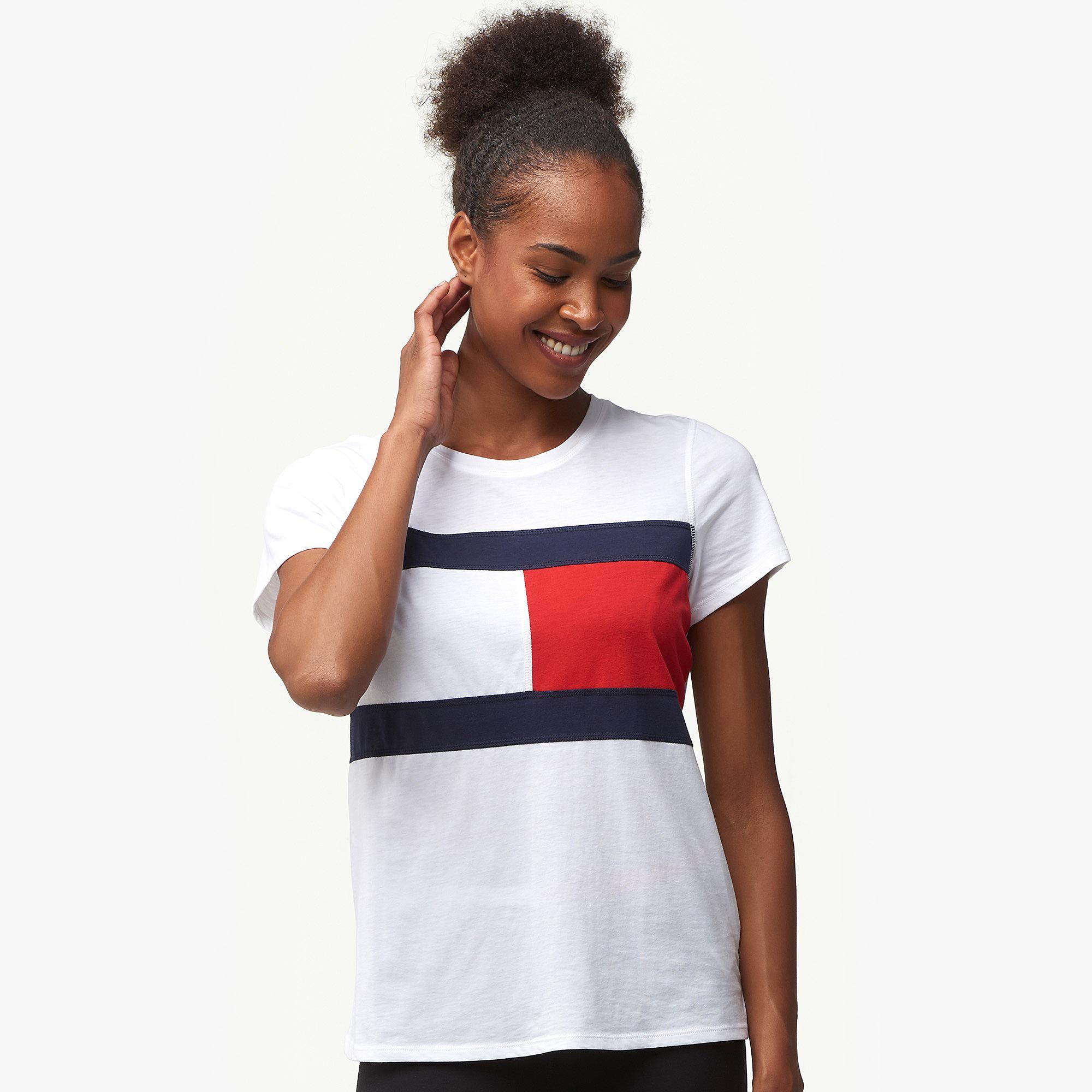 72f63cdd Lyst - Tommy Hilfiger Flag T-shirt in White