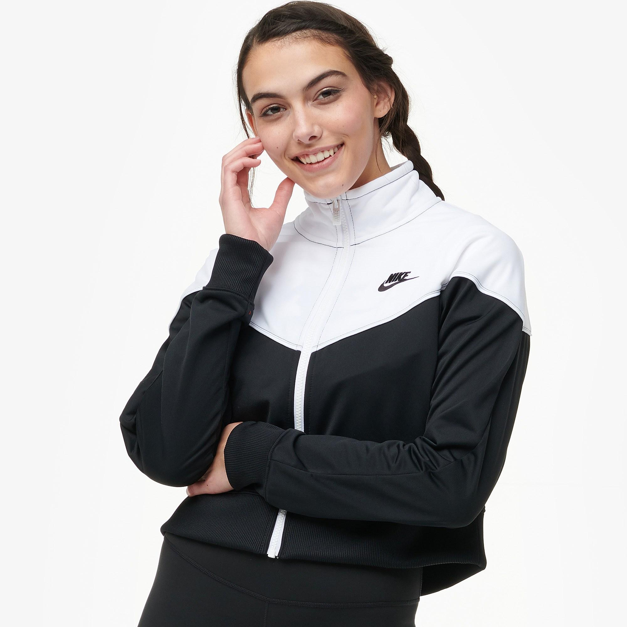 982e3876cf3 Lyst - Nike Heritage Cropped Track Jacket in Black - Save 28%
