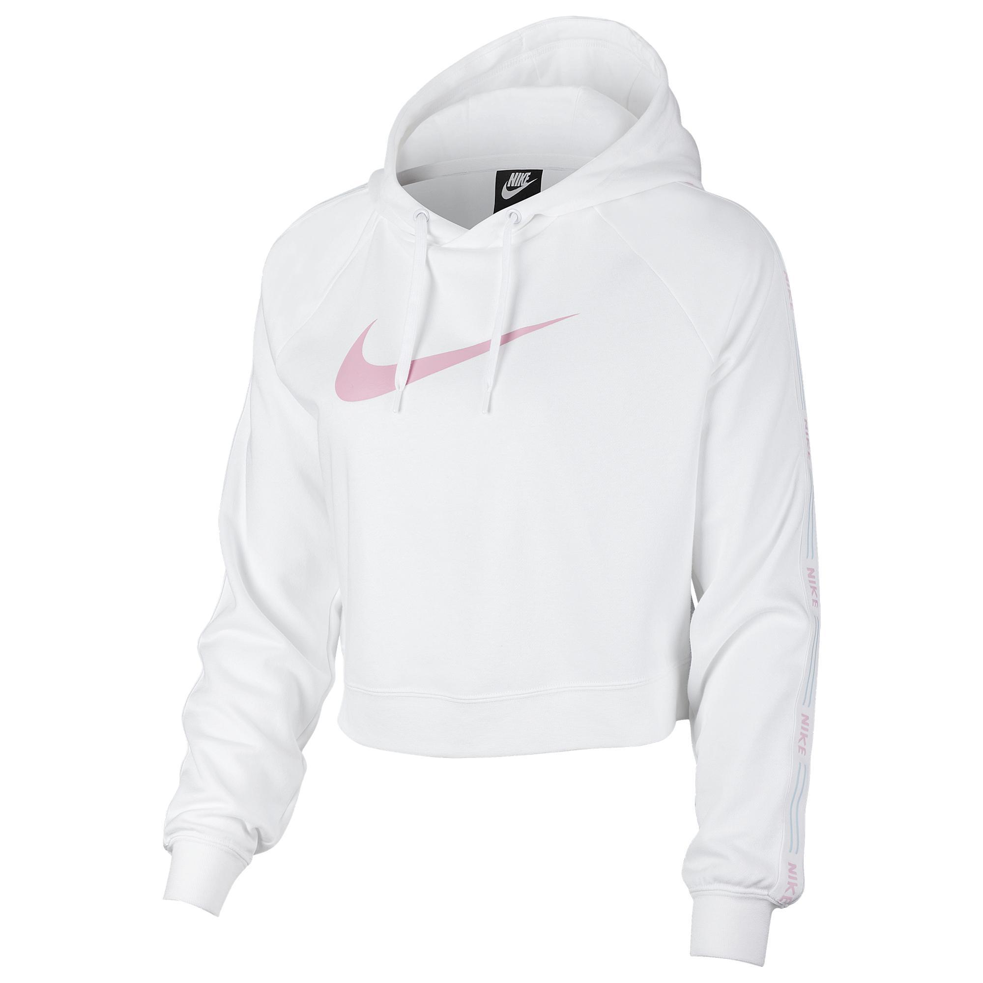 686aa8a58d7c Nike - White Ultra Femme Cropped Hoodie - Lyst. View fullscreen