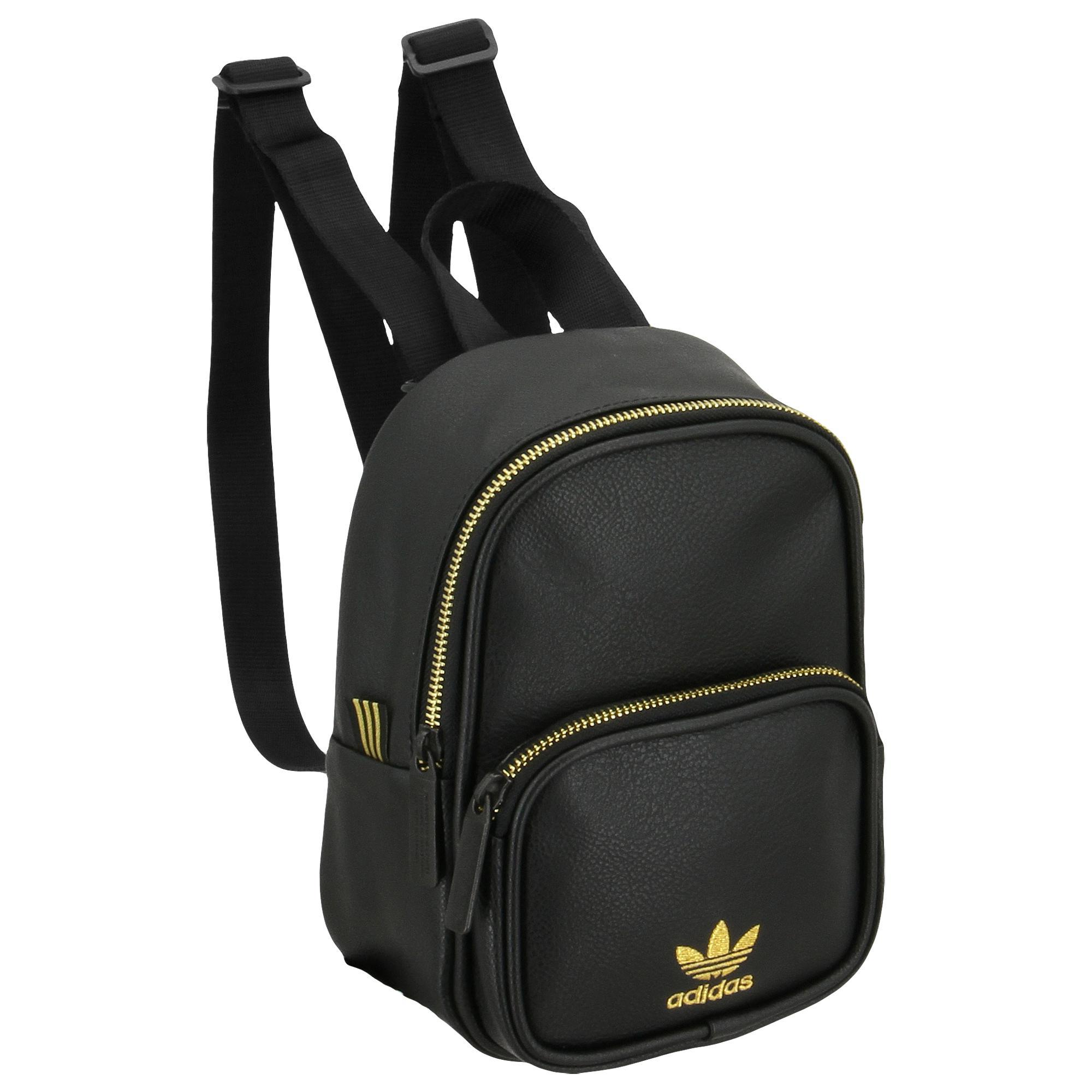 Lyst - adidas Originals Mini Pu Leather Backpack in Black 0d8831e82fd75