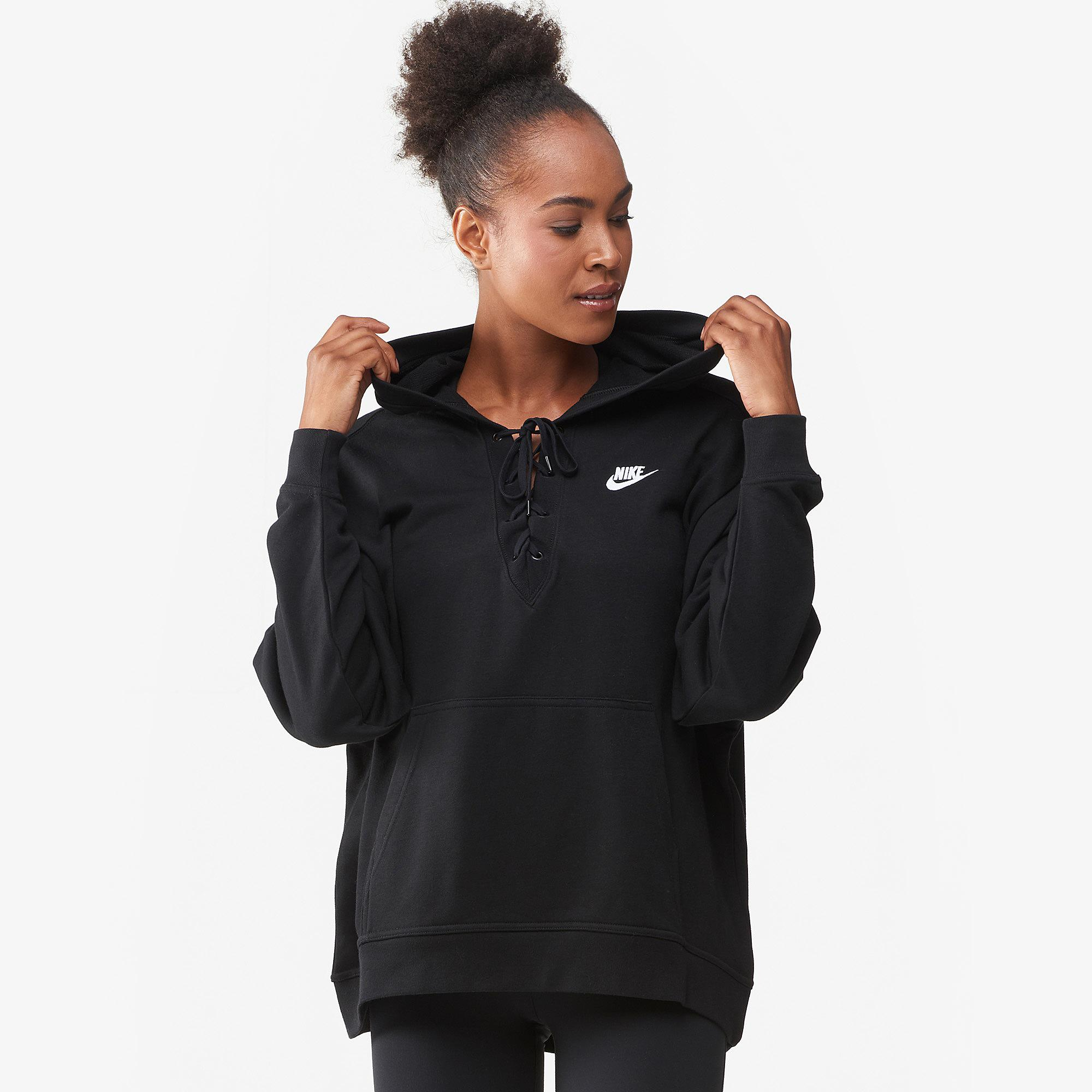 73f89d561274 Lyst - Nike Rally Lace-up Hoodie Extended Size in Black