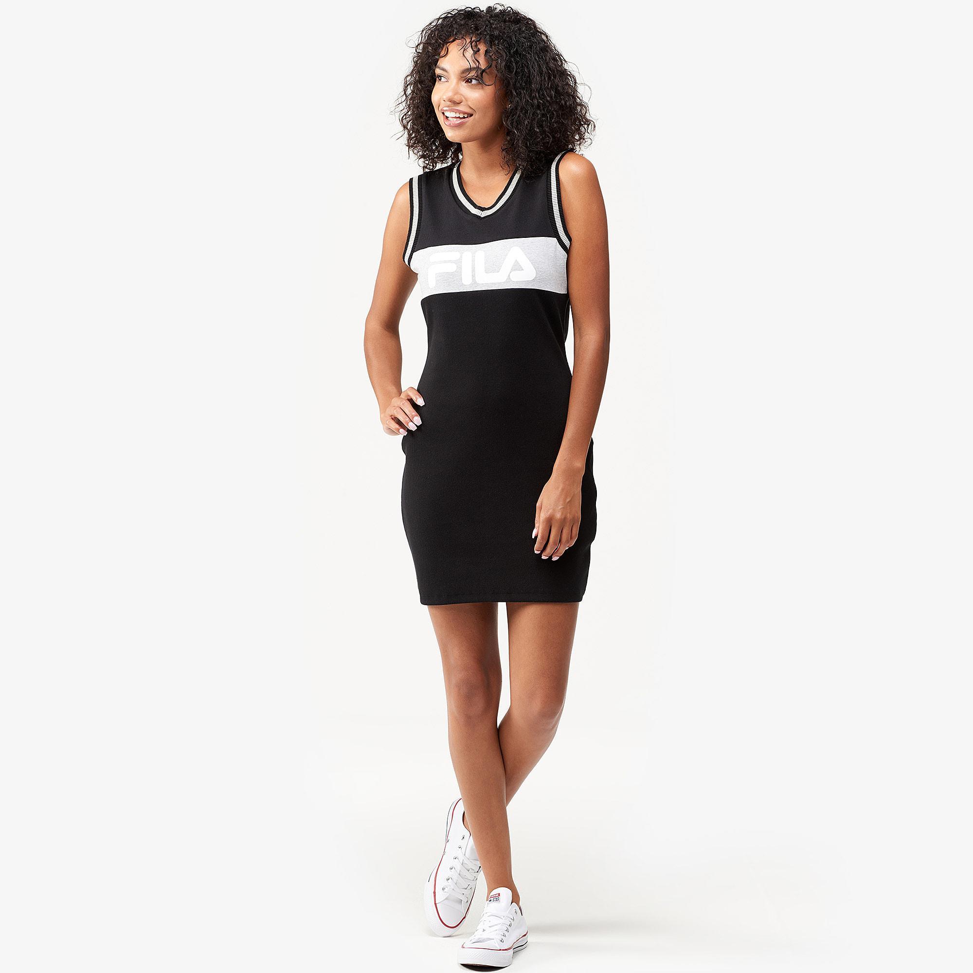 6f3fda7a4275 Lyst - Fila Leigh Rib Dress in Black