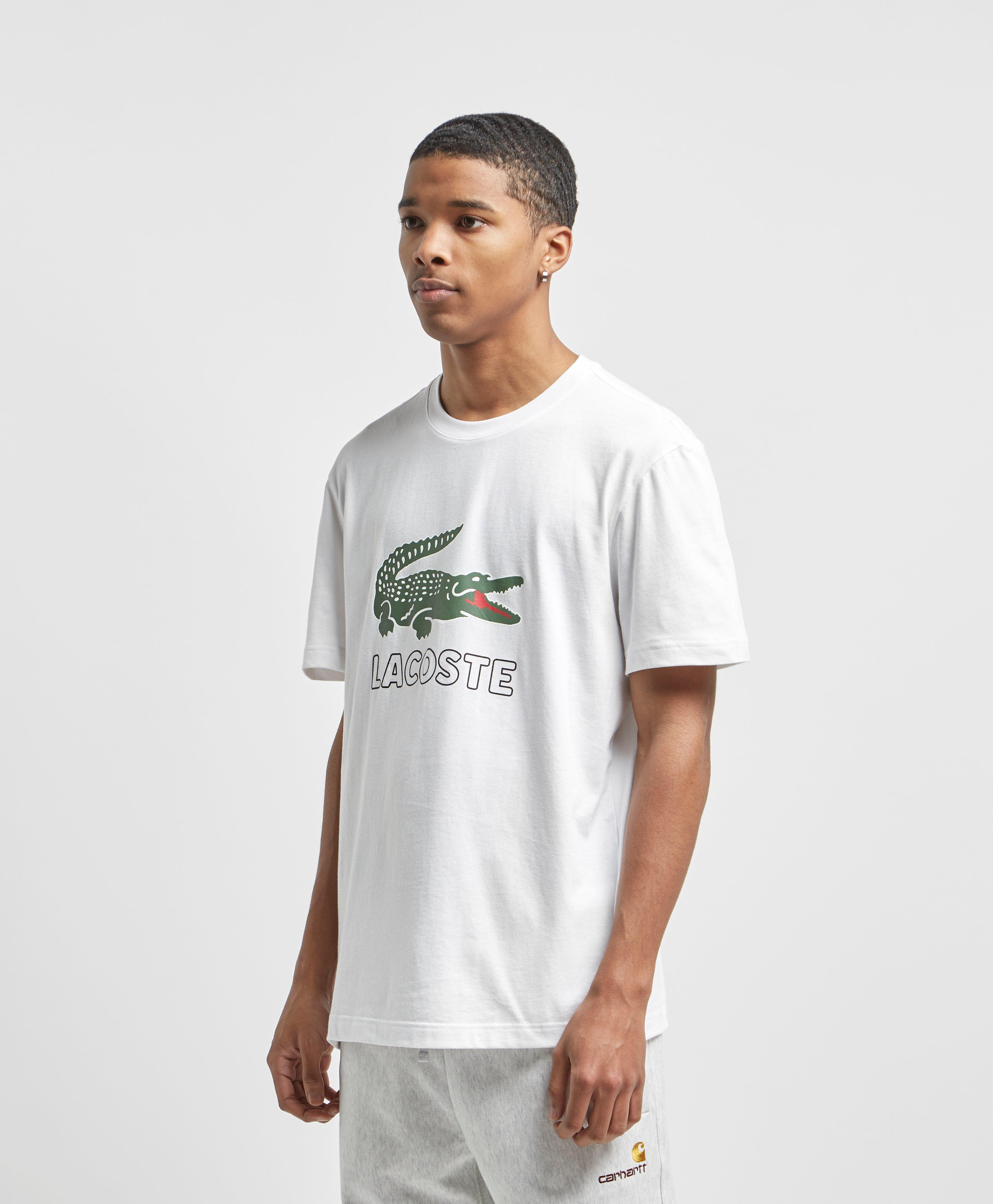 2358725764c1b Lyst - Lacoste Large Crocodile Logo Vintage T-shirt in White for Men