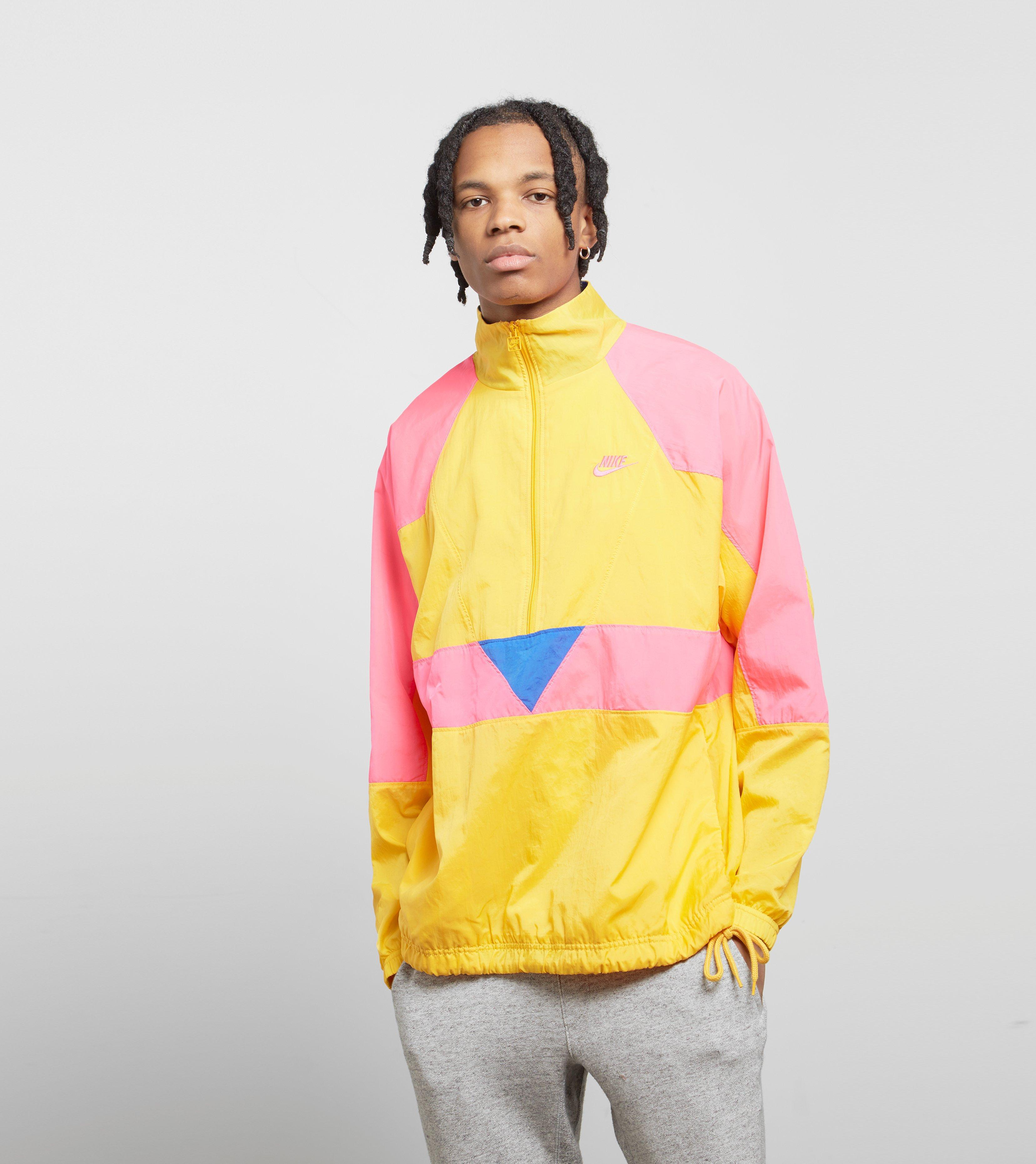 c5b15b690c4b Nike Vaporwave Half Zip Woven Jacket in Yellow for Men - Lyst