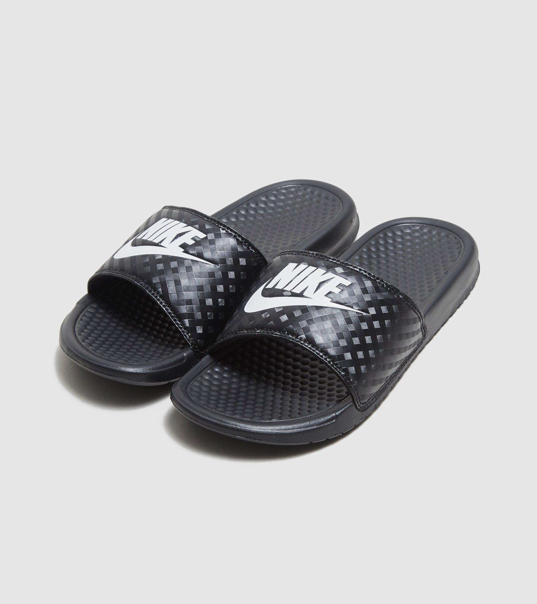 Nike. Black Benassi Just Do It Slides Women's