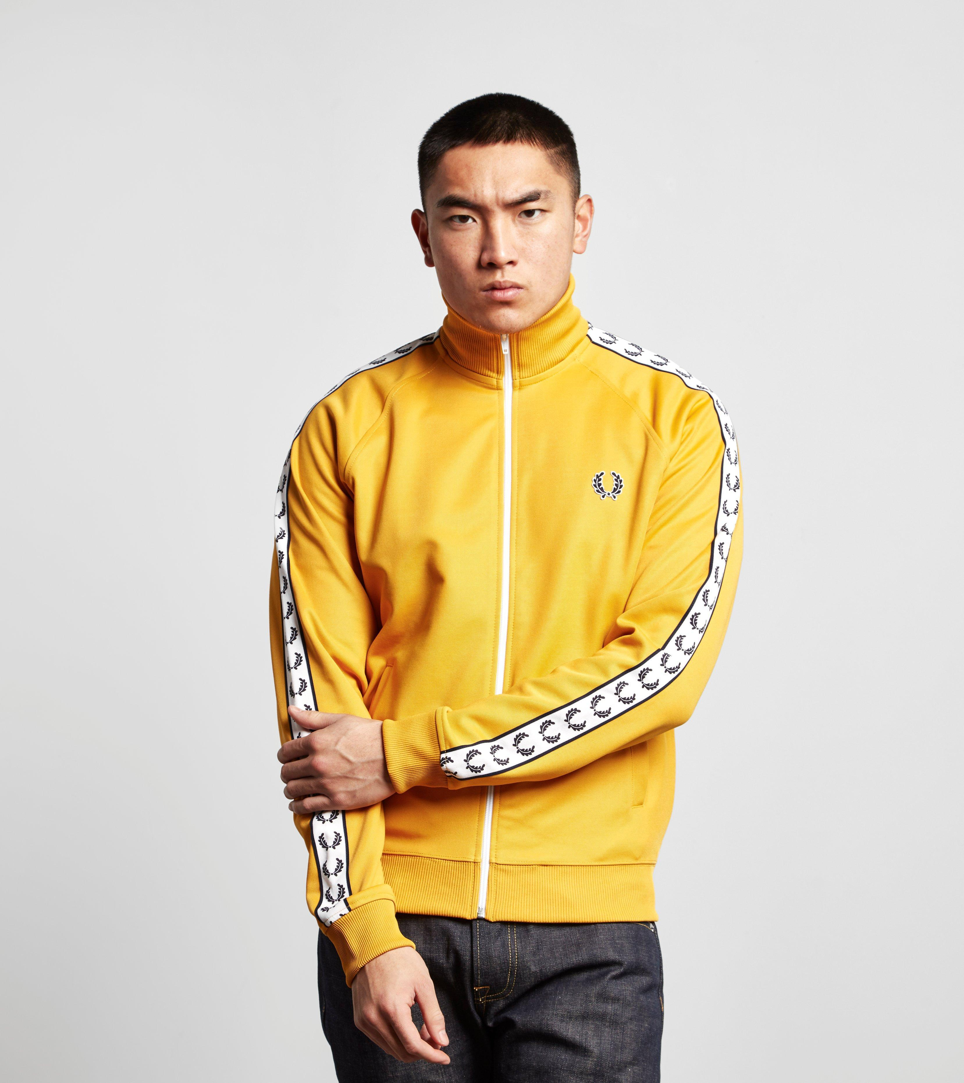 utlopp snygg 100% autentisk Fred Perry Laurel Wreath Tape Track Top in Yellow for Men - Lyst