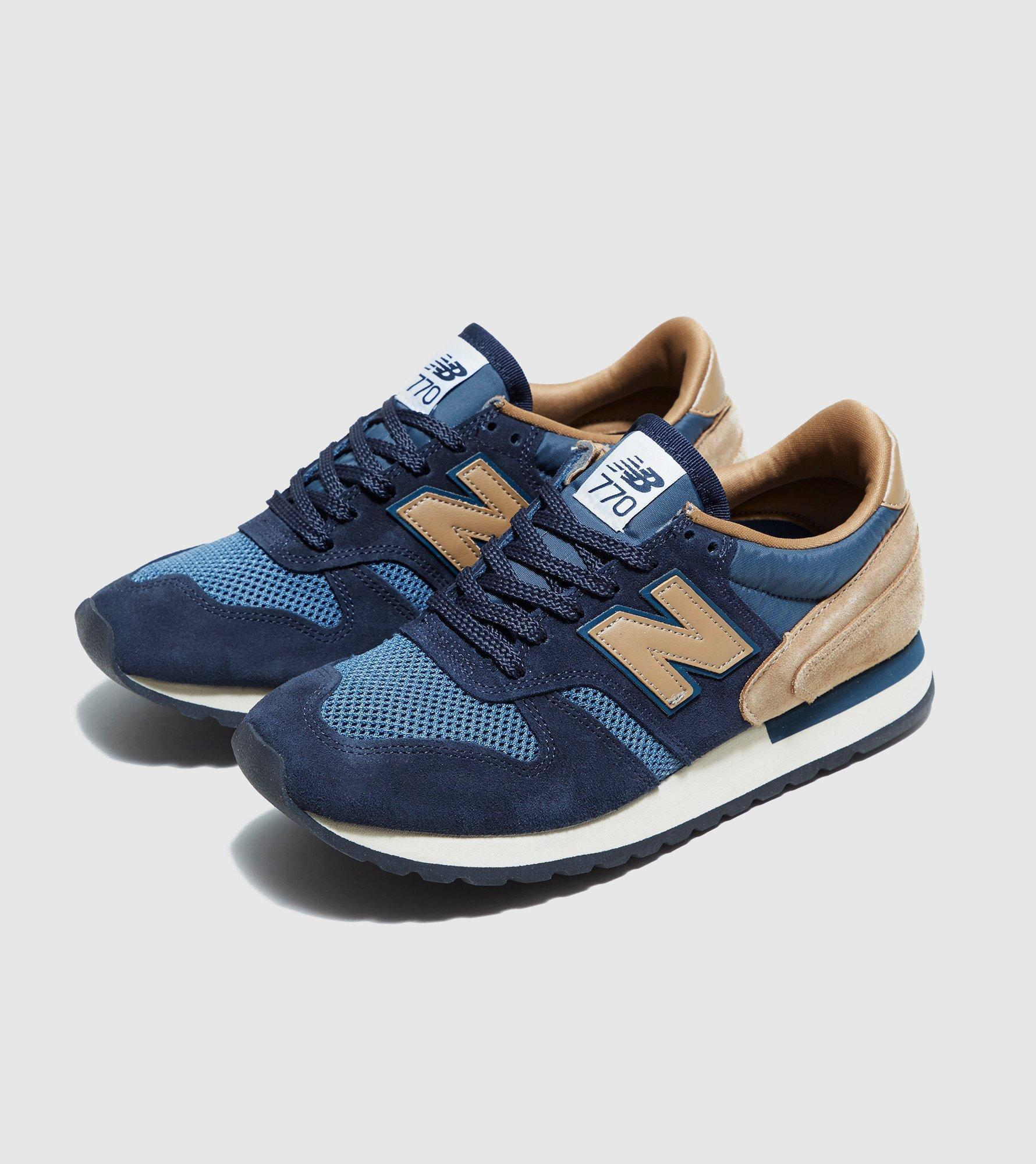 New Balance Shoes Blue Leather